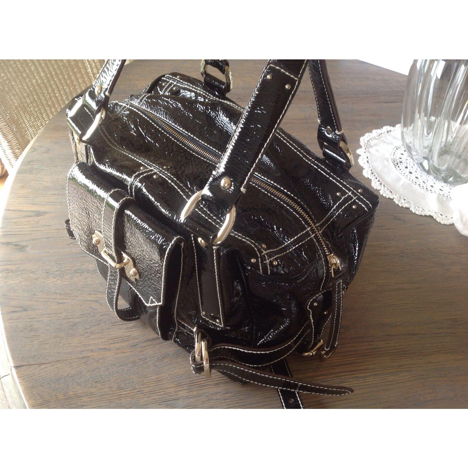 086d86be69d Luella Handbag Handbags Patent leather Black ref.18390 - Joli Closet