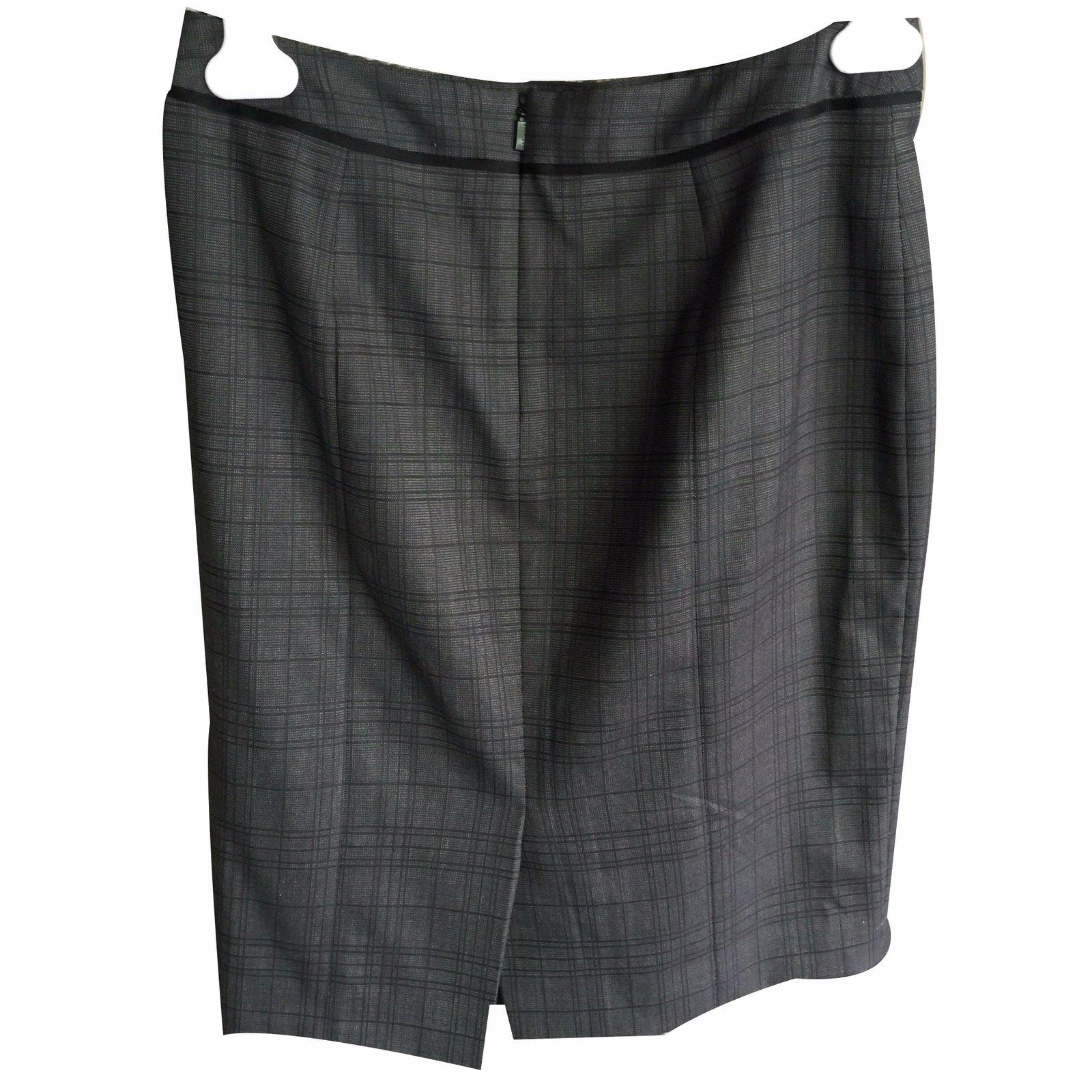 138a76e6b Hugo Boss Skirt suit Skirt suit Cotton Grey ref.18638 - Joli Closet