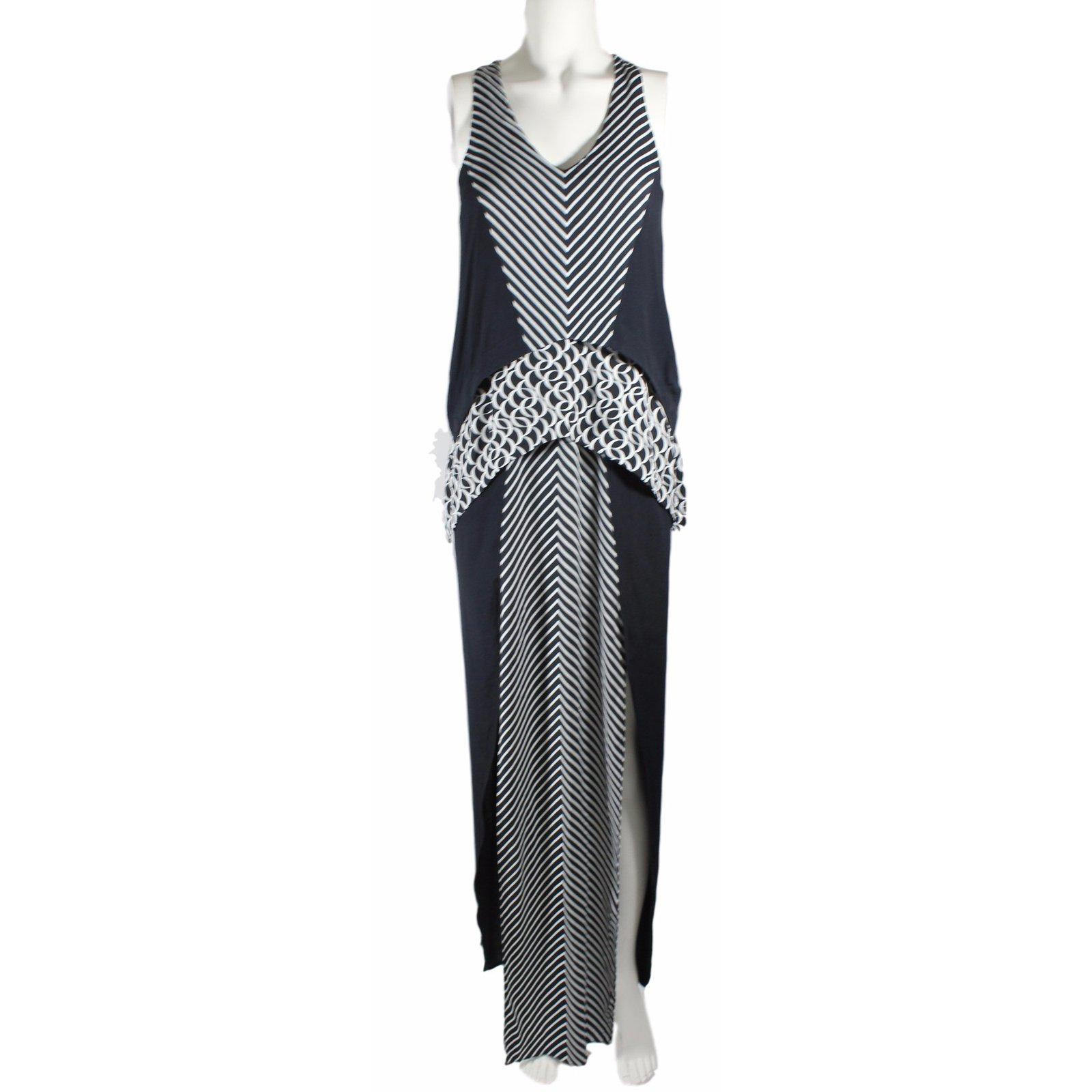 Sass Bide Walk Strong Dress Dresses Rayon Black White Ref 18697 Joli Closet