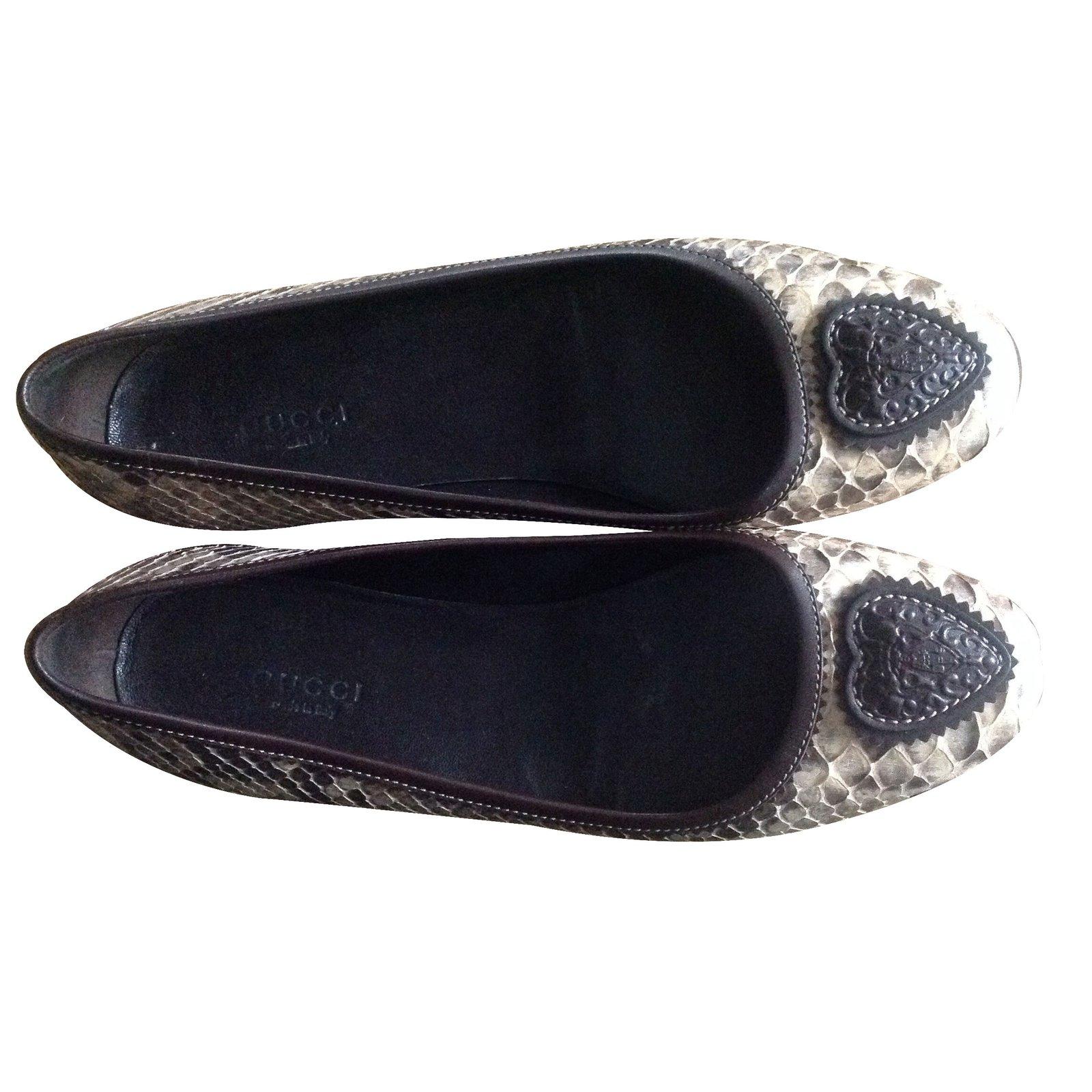 95a34c6d8a6e Gucci Ballet flats Ballet flats Exotic leather Beige ref.18853 - Joli Closet