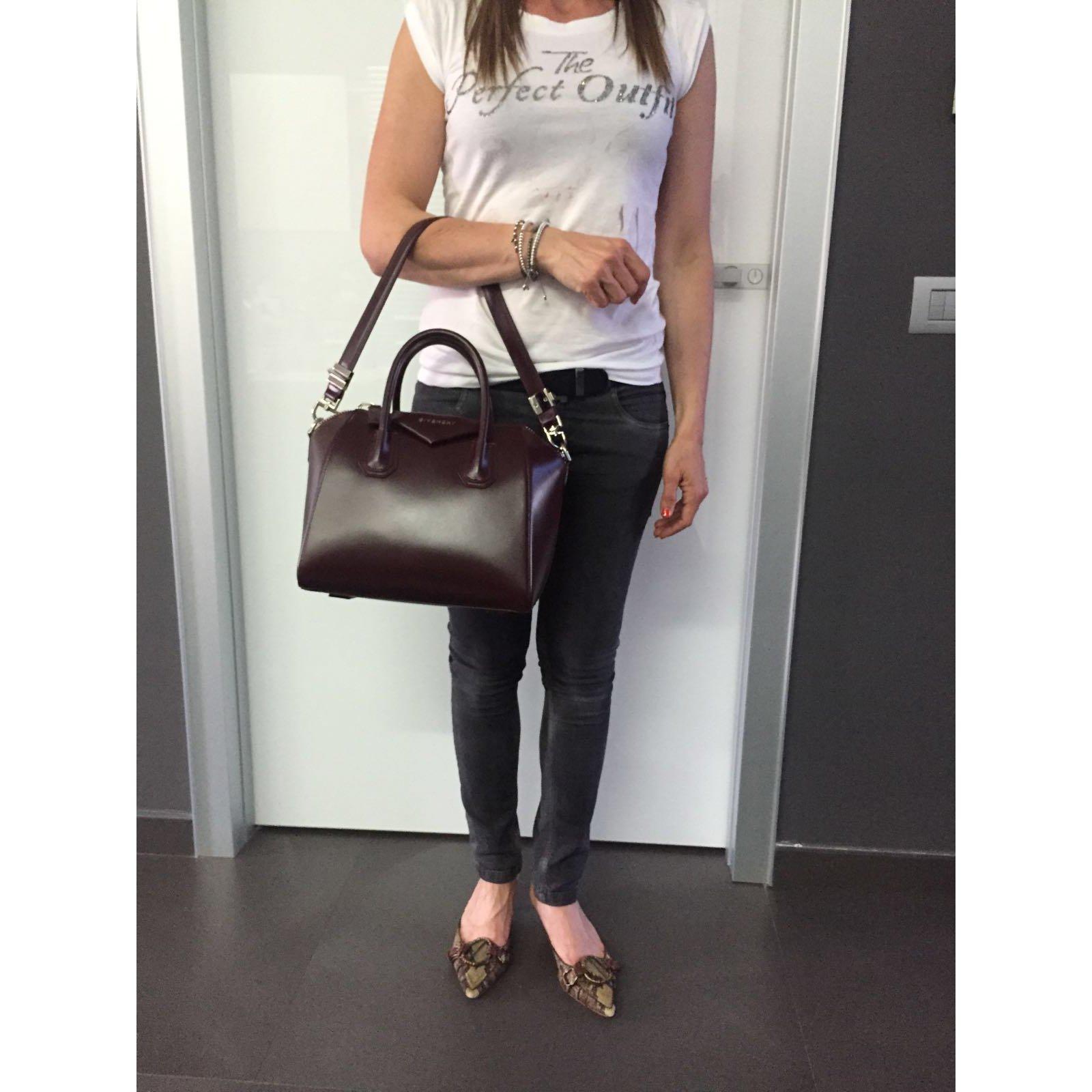 e04bfd2efa9a Facebook · Pin This. Givenchy Antigona small Handbags Leather Dark red ...