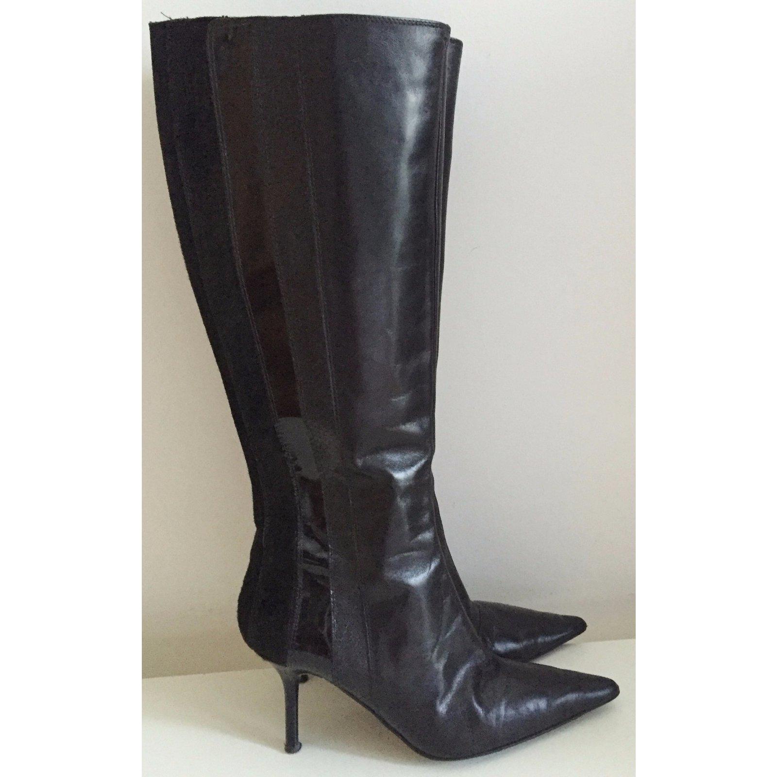 831905cb1d8 Facebook · Pin This. Karen Millen Boots Boots Leather Black ...