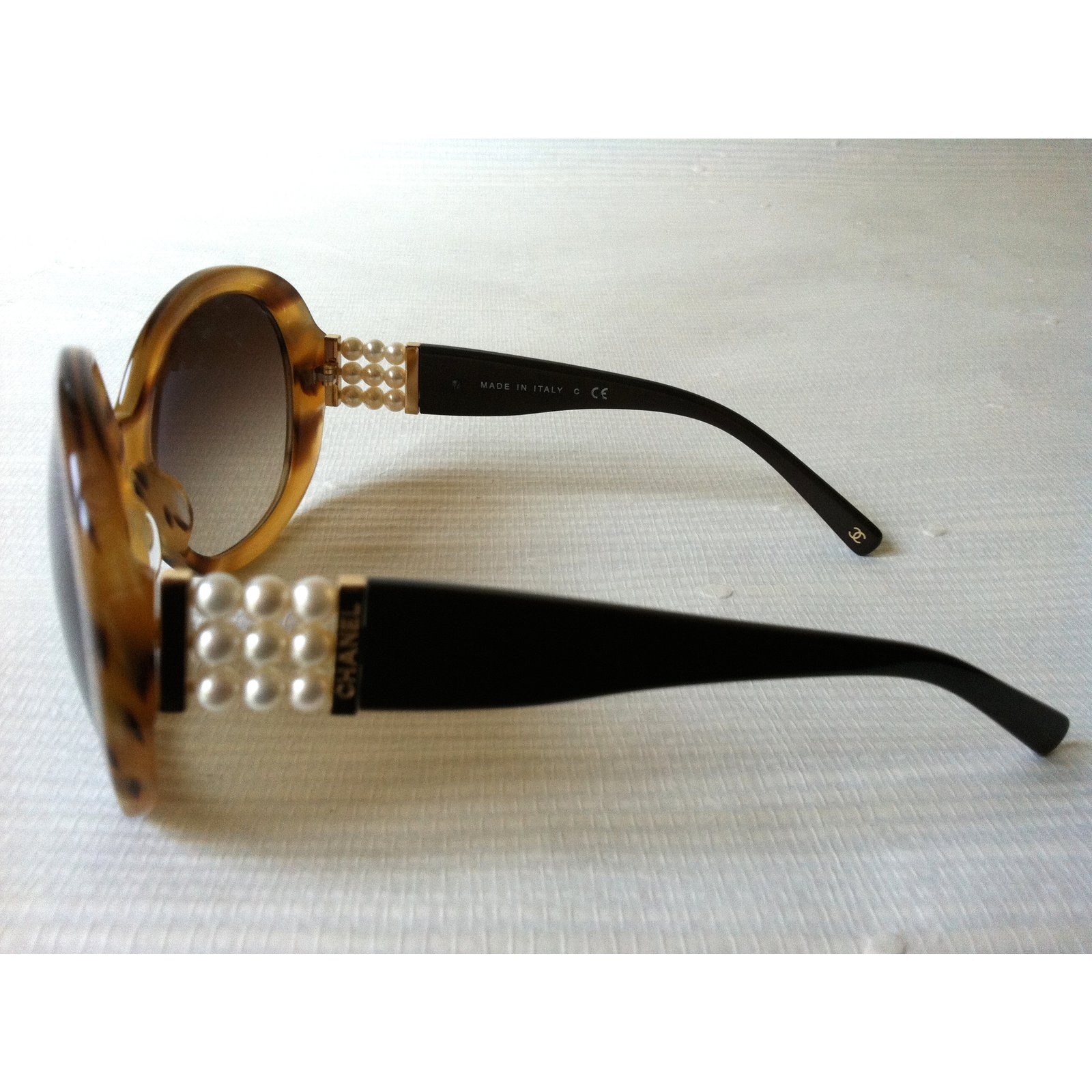 8e3d64121eb3c Lunettes Chanel Lunettes chanel perle collection rare Acetate Marron clair  ref.19929 - Joli Closet