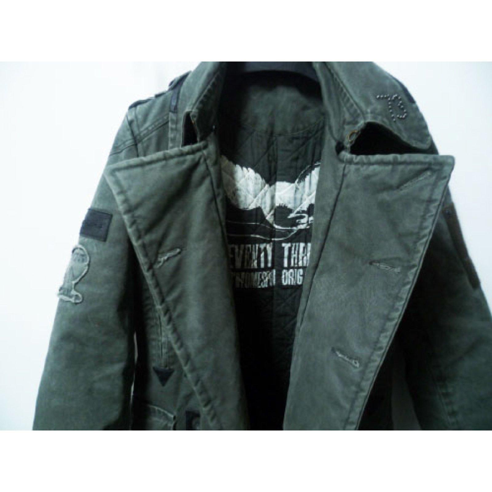 Pepe Jeans Coats Outerwear Men Coats Outerwear Cotton Khaki ref.20228 -  Joli Closet eeba1e1cc