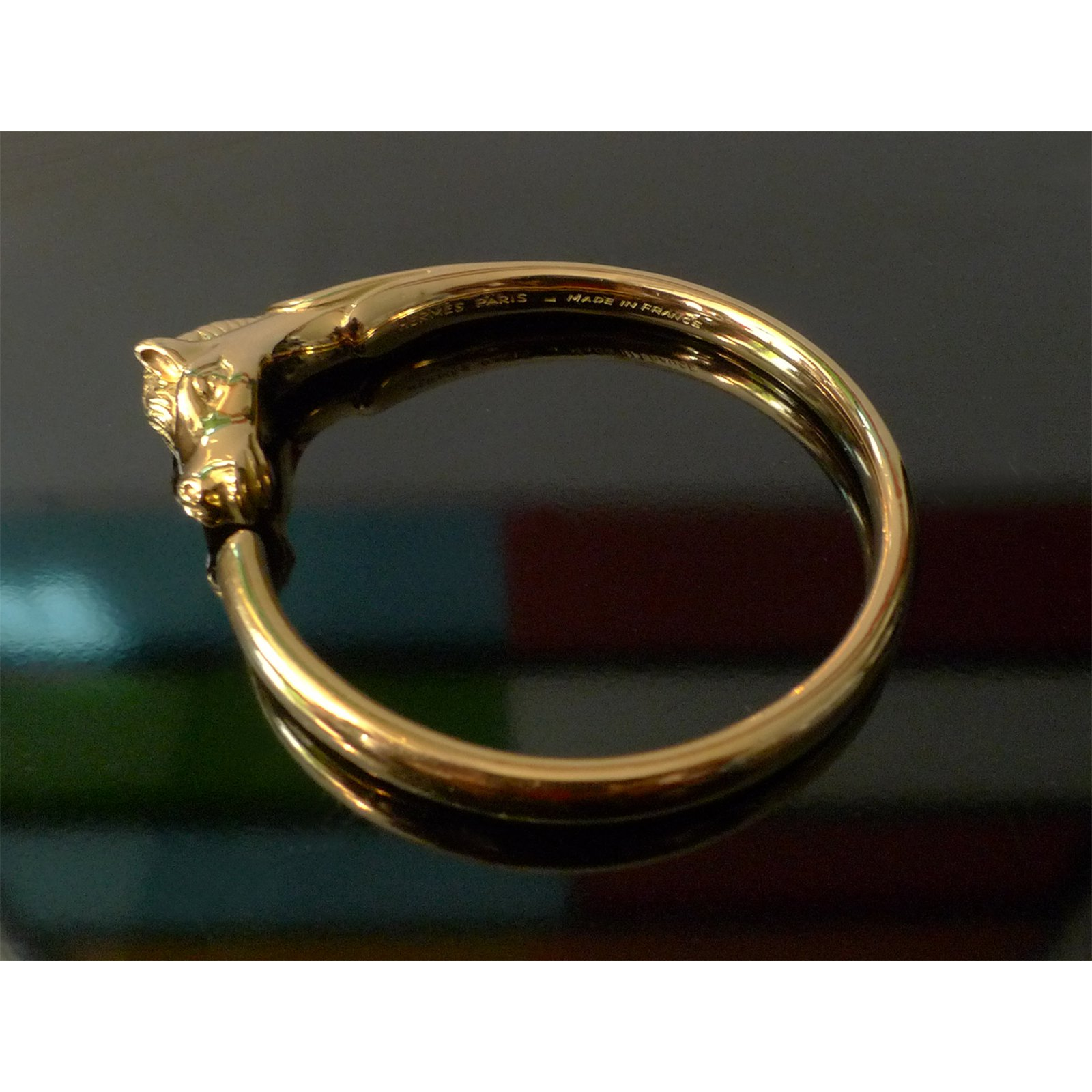 80b47520c8bb Hermès Bracelet Hermès tête de cheval Bracelets Gold-plated Golden  ref.20277 - Joli Closet