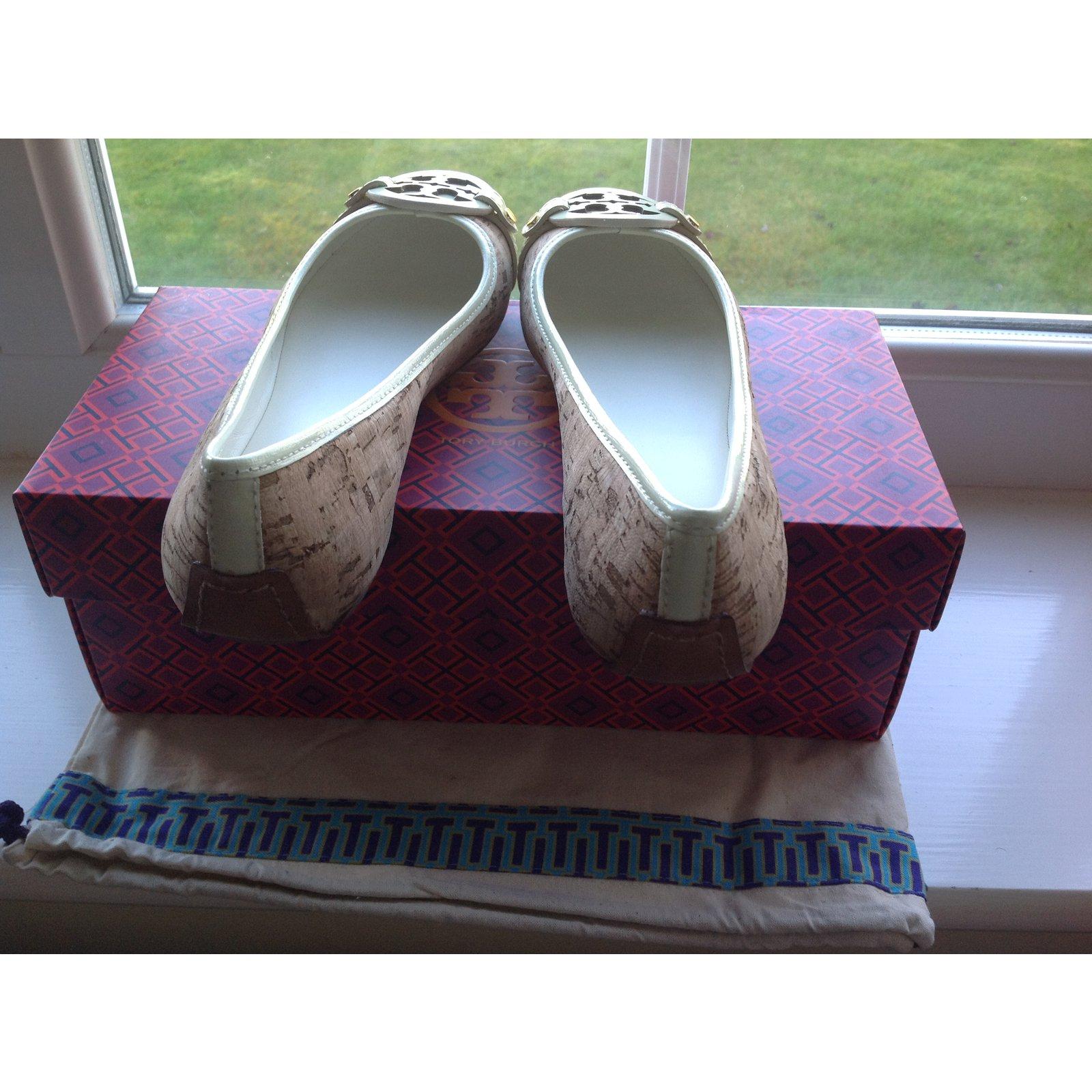 f5e7db9b808 Tory Burch Aaden Ballet cork natural ivory Ballet flats Leather Multiple  colors ref.20577 - Joli Closet