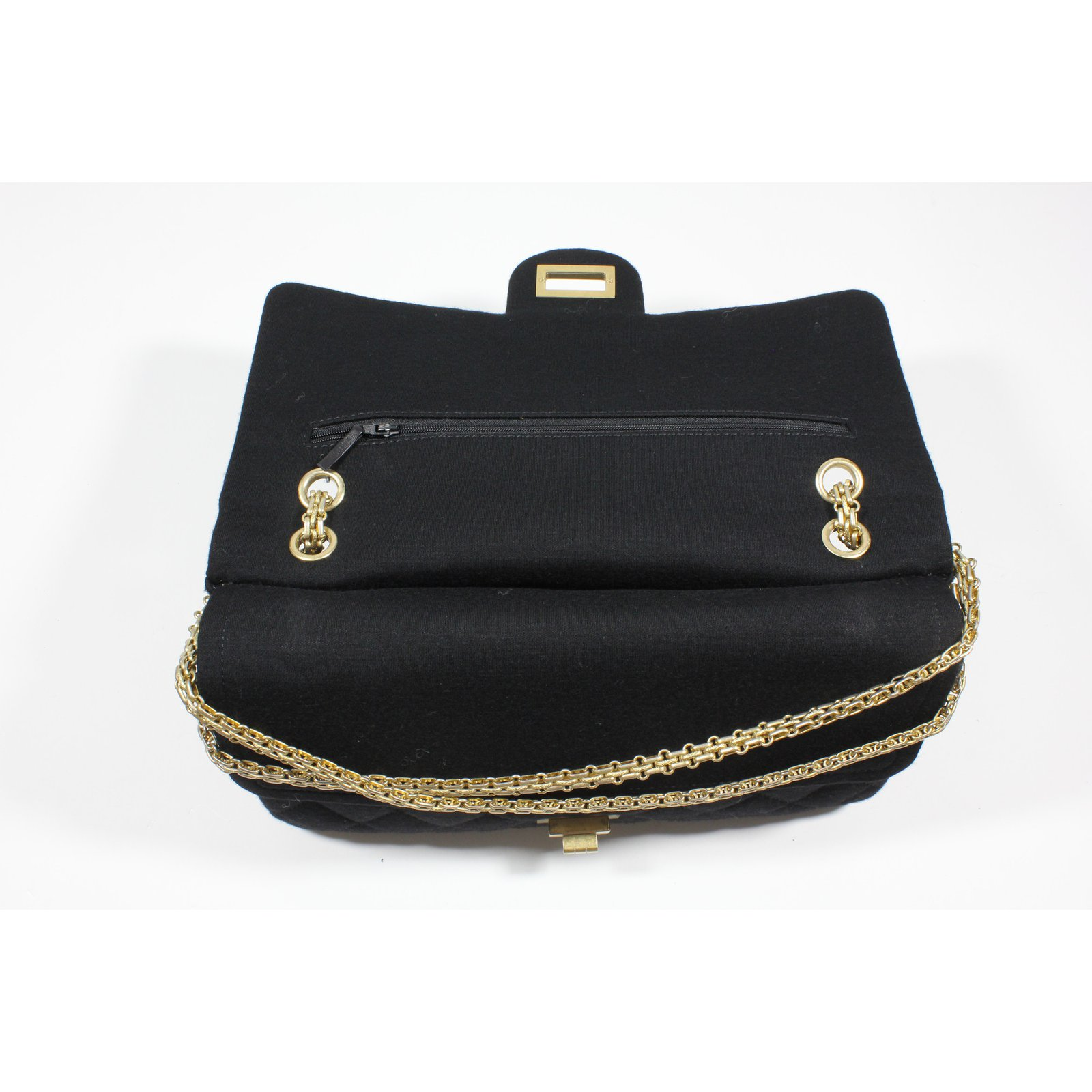 7a41ef745b58 Facebook · Pin This. Chanel Jersey 2.55 bag Handbags Other Black ref.21080