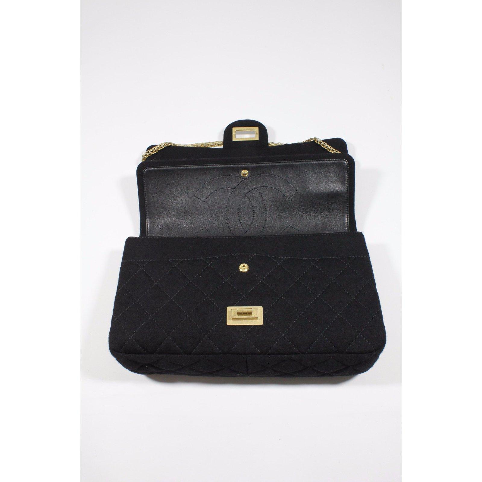 09f51e4f4613 Sacs à main Chanel Sac 2.55 en jersey Autre Noir ref.21080 - Joli Closet