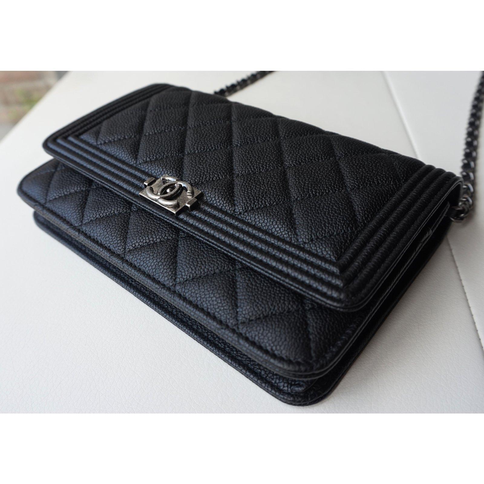 a722f0ece1 Chanel Boy WOC Handbags Leather Black ref.21279 - Joli Closet