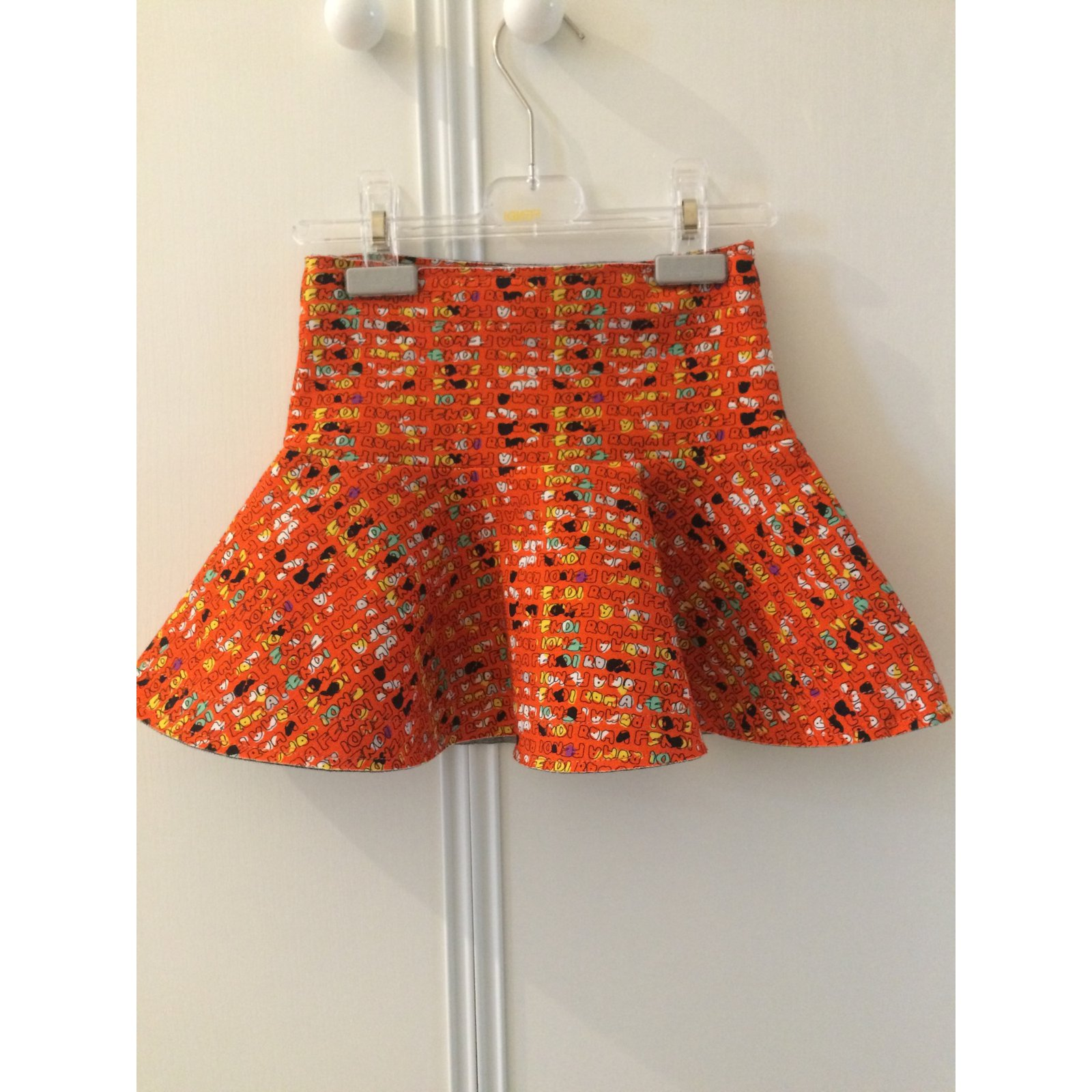 93a2f8274f Fendi Skirt Skirts Cotton Orange ref.21335 - Joli Closet