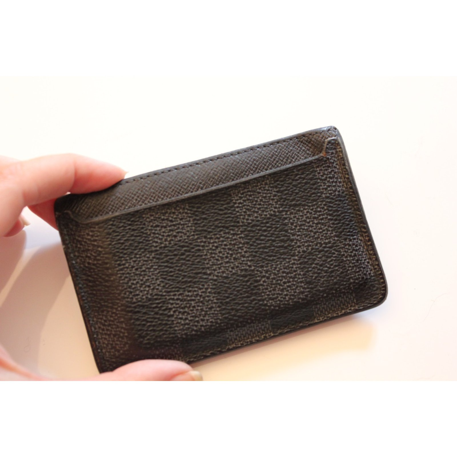 a0b7ef5164d3 Louis Vuitton Card Holder NEO Wallets Small accessories Other Grey  ref.21469 - Joli Closet