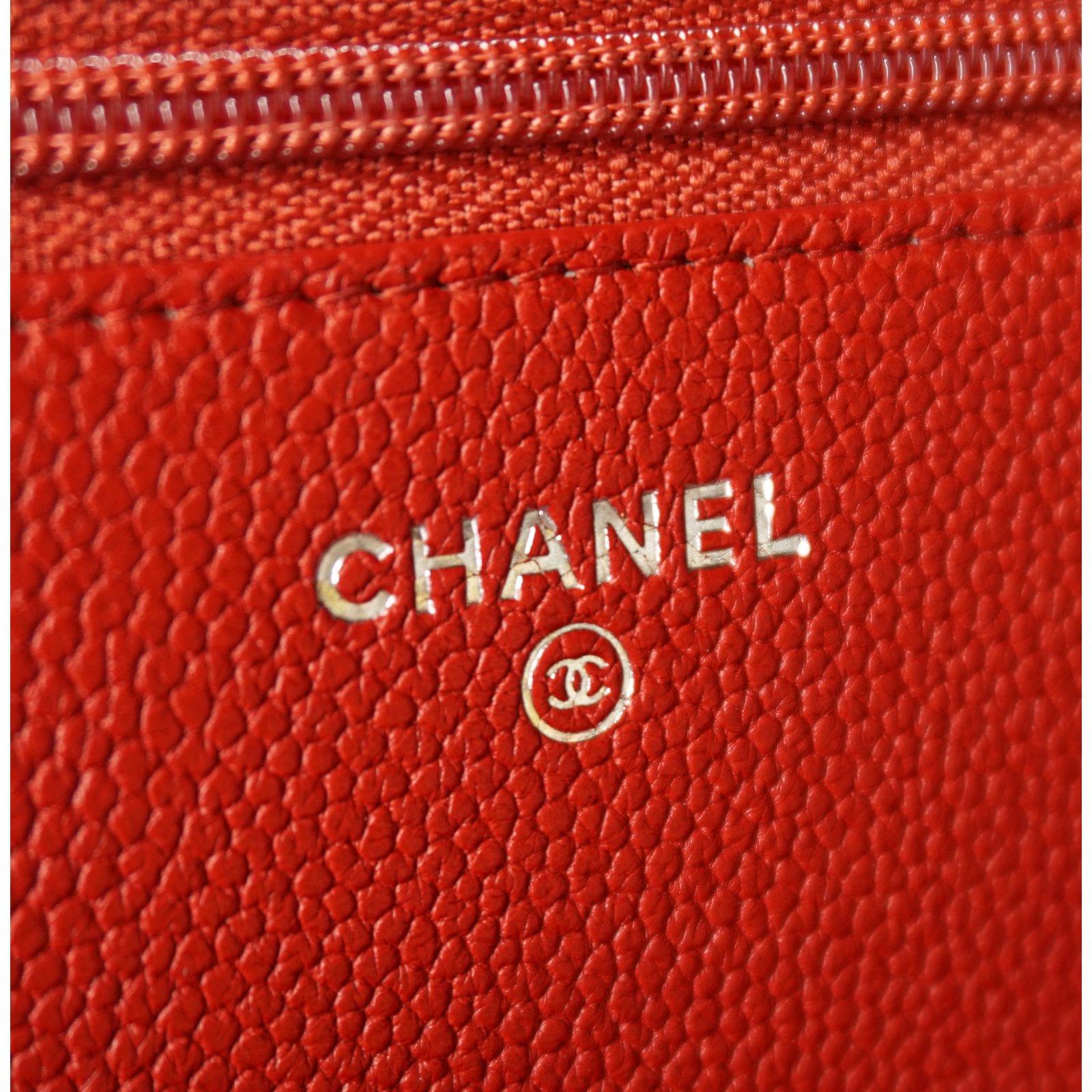 b4acffcb998a Chanel WOC boy Clutch bags Leather Red ref.21600 - Joli Closet