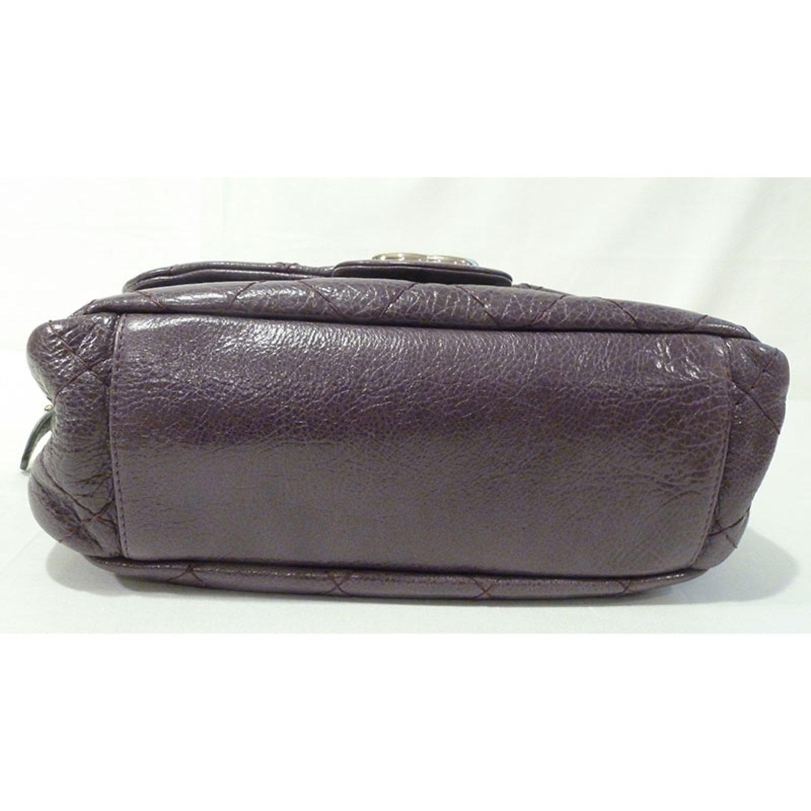 d684b02b1dae Chanel Chanel Road Flap Shoulder Bag Handbags Leather Purple ref.21619 -  Joli Closet