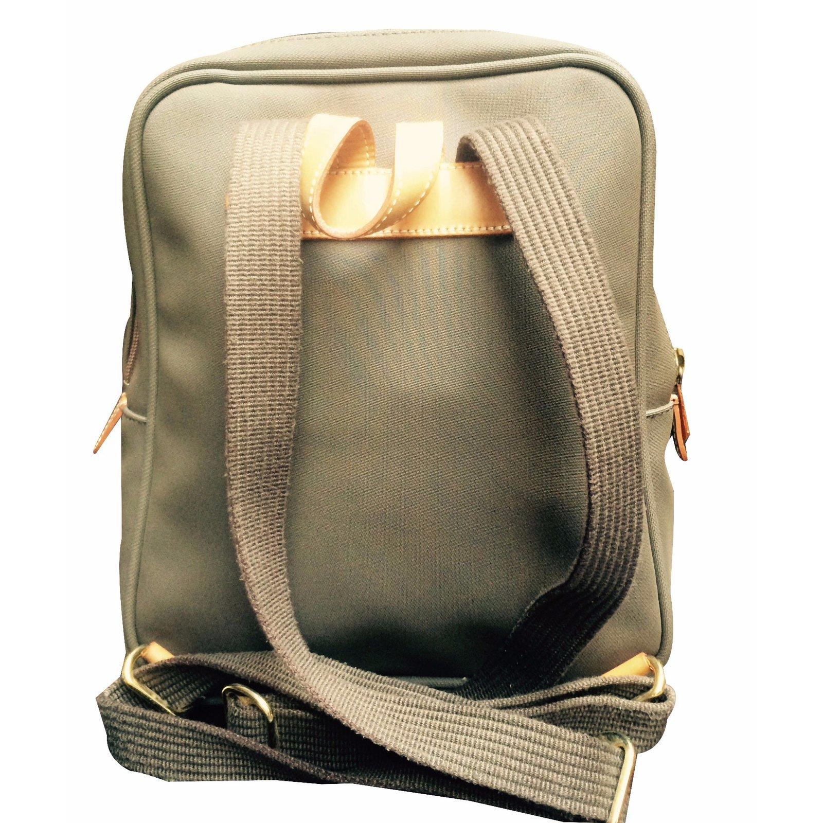 sacs dos lancel sac dos coton marron clair joli closet. Black Bedroom Furniture Sets. Home Design Ideas