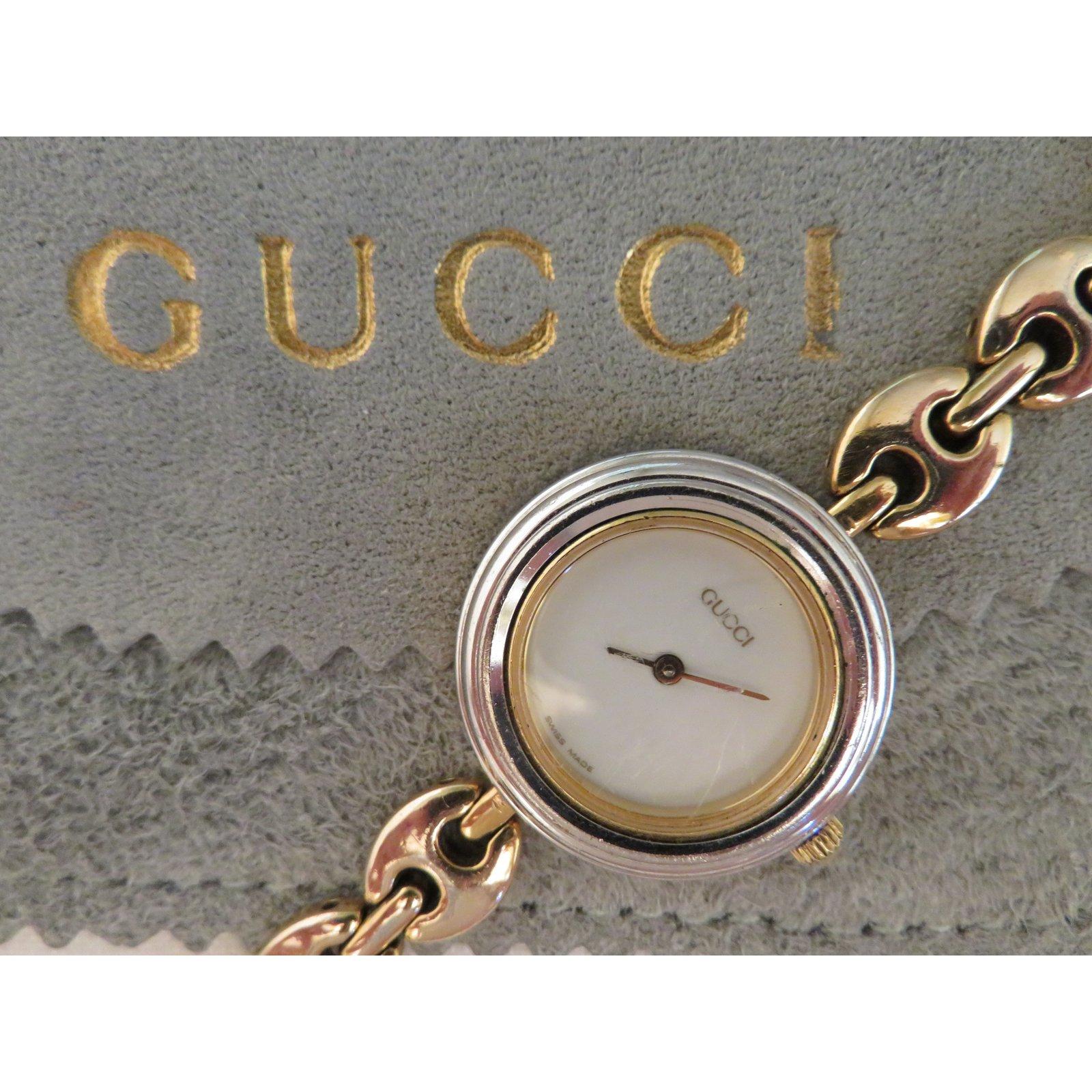 1bb113f21732 Gucci Fine Watches Gold Plated Golden Ref 21997 Joli