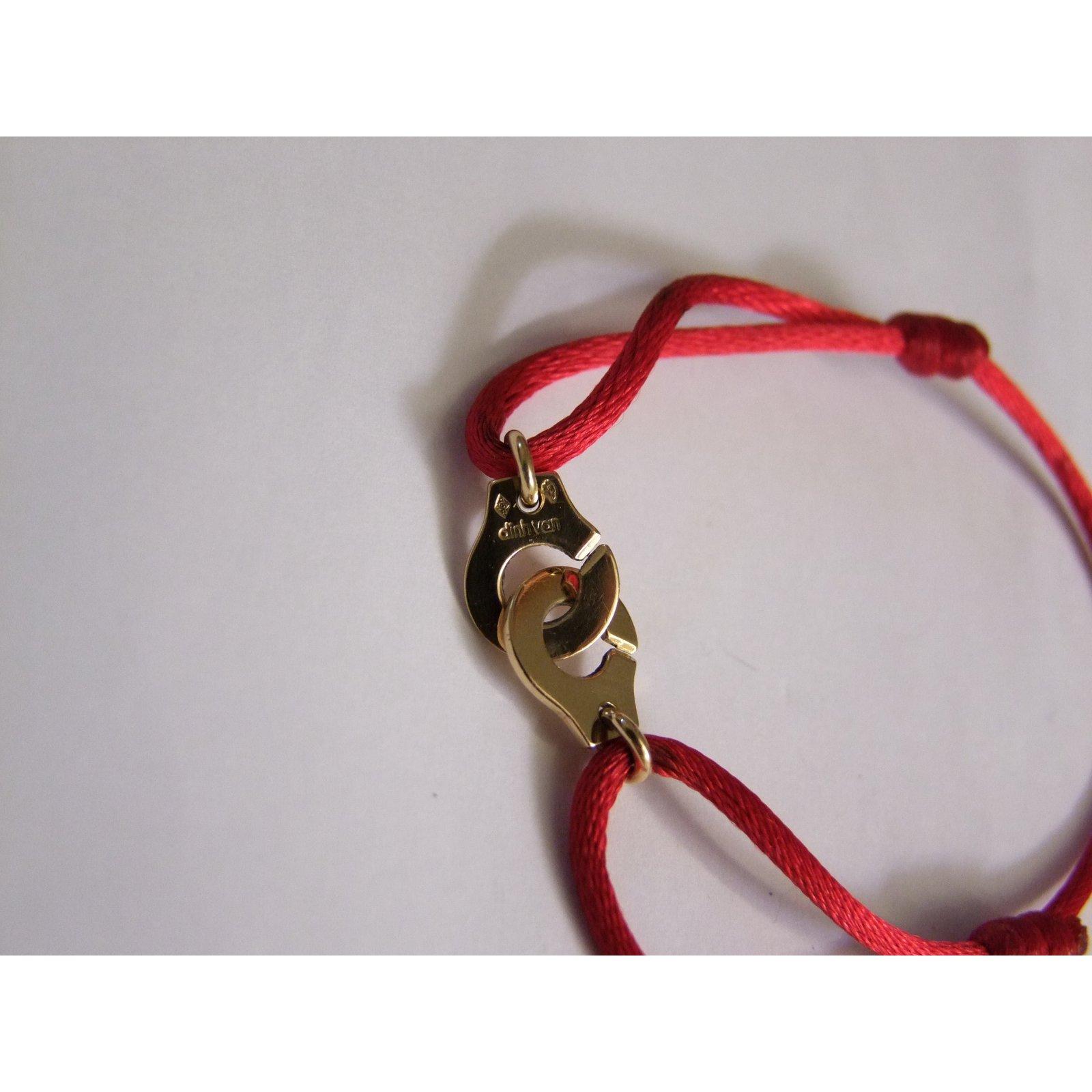 Bracelets Dinh Van MENOTTES OR JAUNE R 10 Or jaune Rouge ref.22752 , Joli  Closet