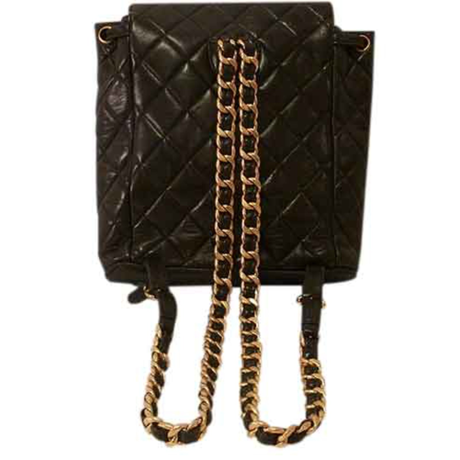 3f02d9bba54f Chanel Chain Quilted Leather Backpack Backpacks Leather Black ref.22818 -  Joli Closet
