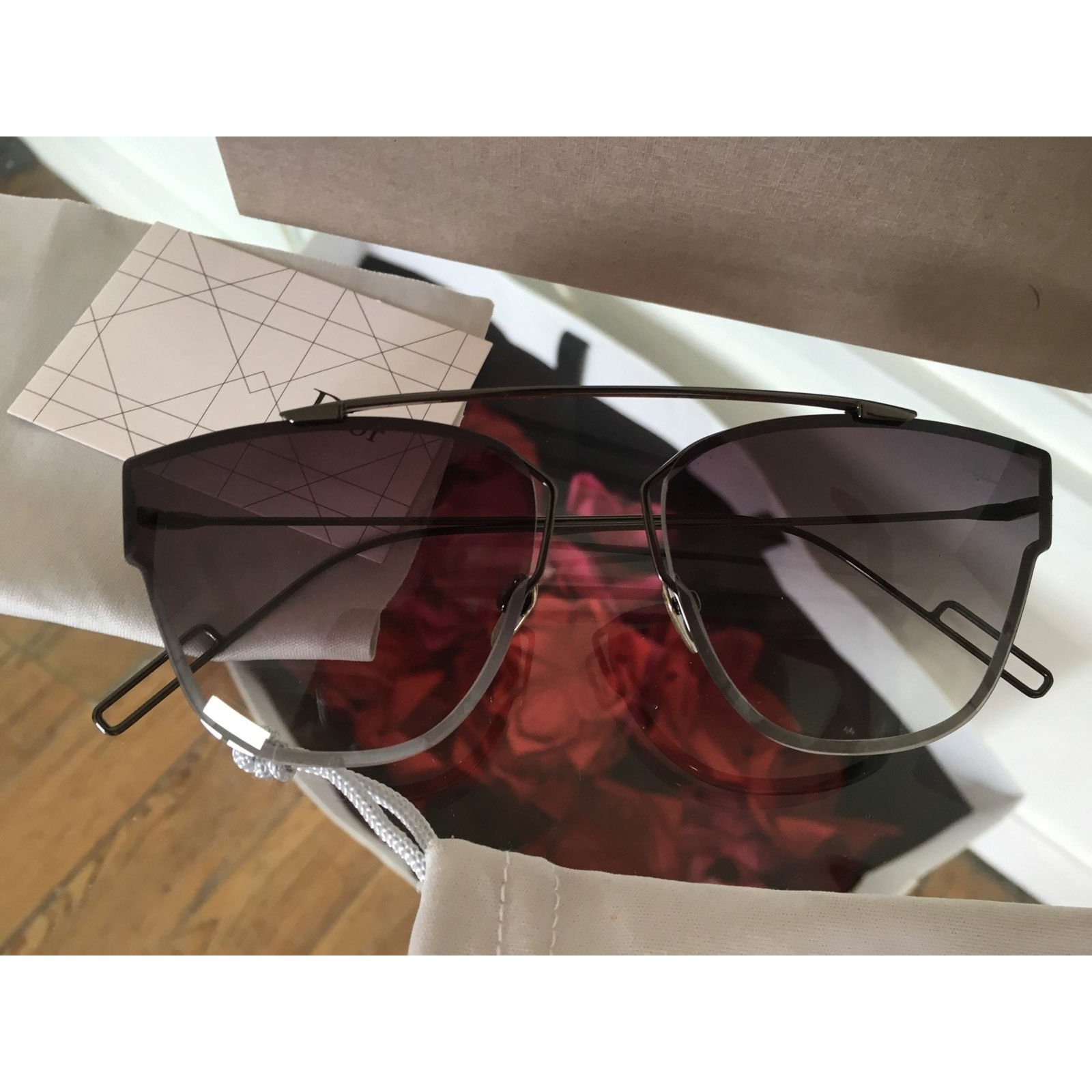 f6abfa30aacb Facebook · Pin This. Christian Dior Sunglasses Sunglasses Metal Grey ref. 23126