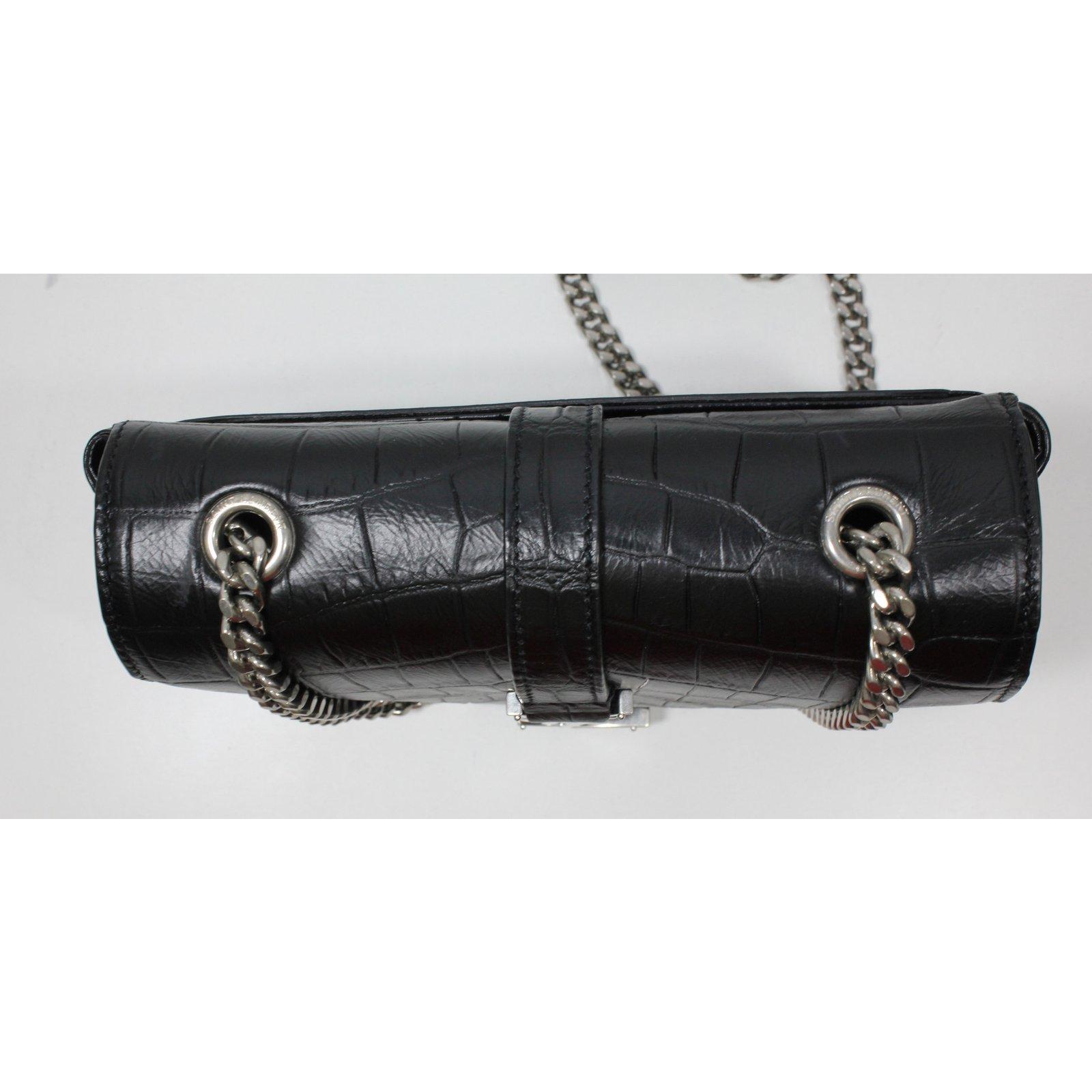 4885aba2c8 Yves Saint Laurent Baby Satchel Handbags Leather Black ref.23202 - Joli  Closet