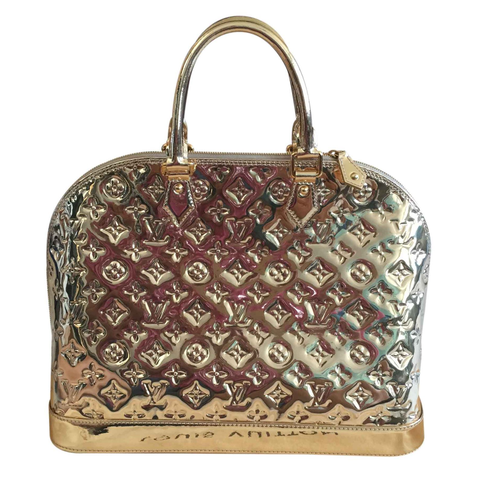 9a50fa0fc7ec Louis Vuitton ALMA MM MIROIR DORE GOLD - SPECIAL EDITION Handbags Patent  leather Golden ref.23487 - Joli Closet
