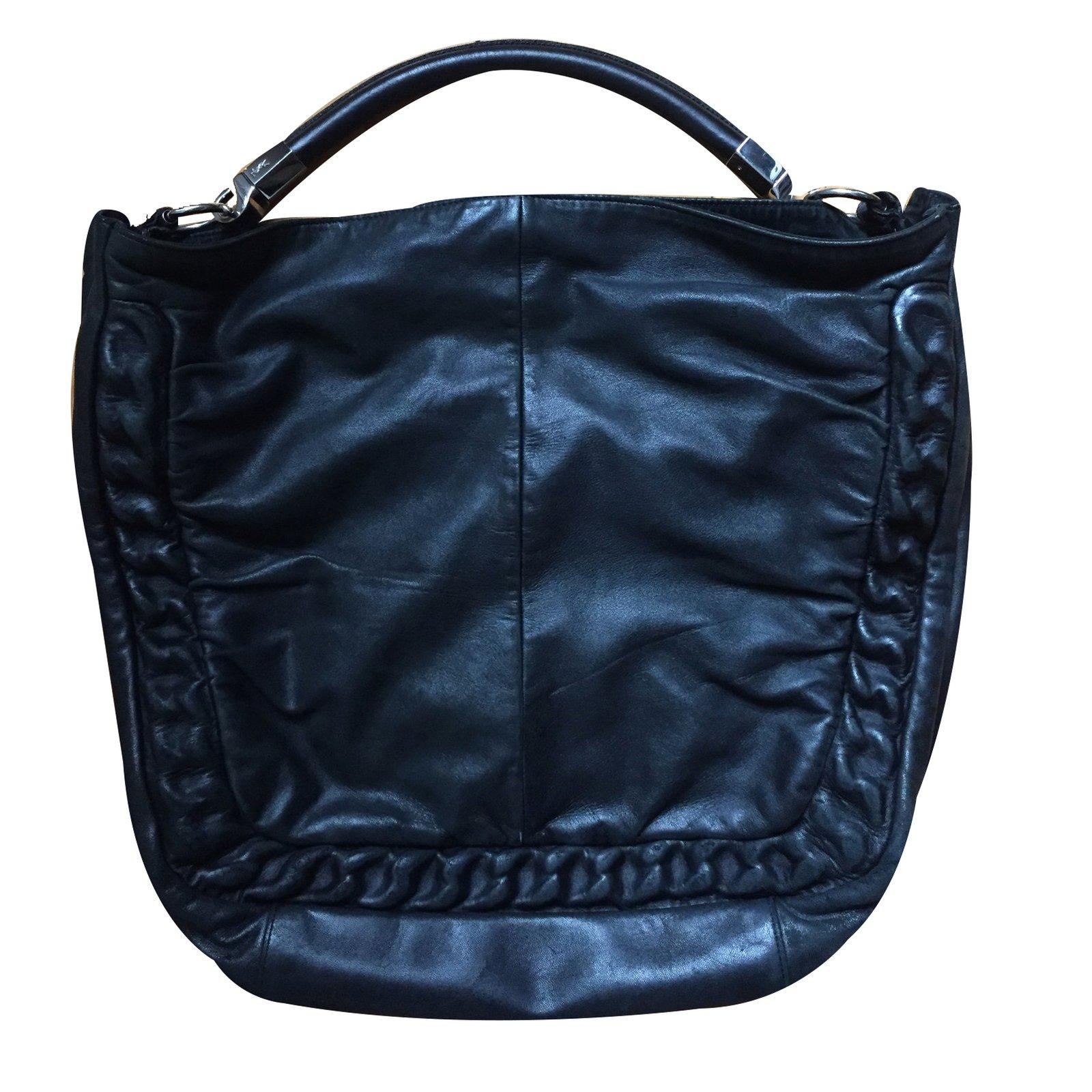 Yves Saint Laurent Handbag Handbags Patent leather Black ref.24281 - Joli  Closet 261853b84f8d9
