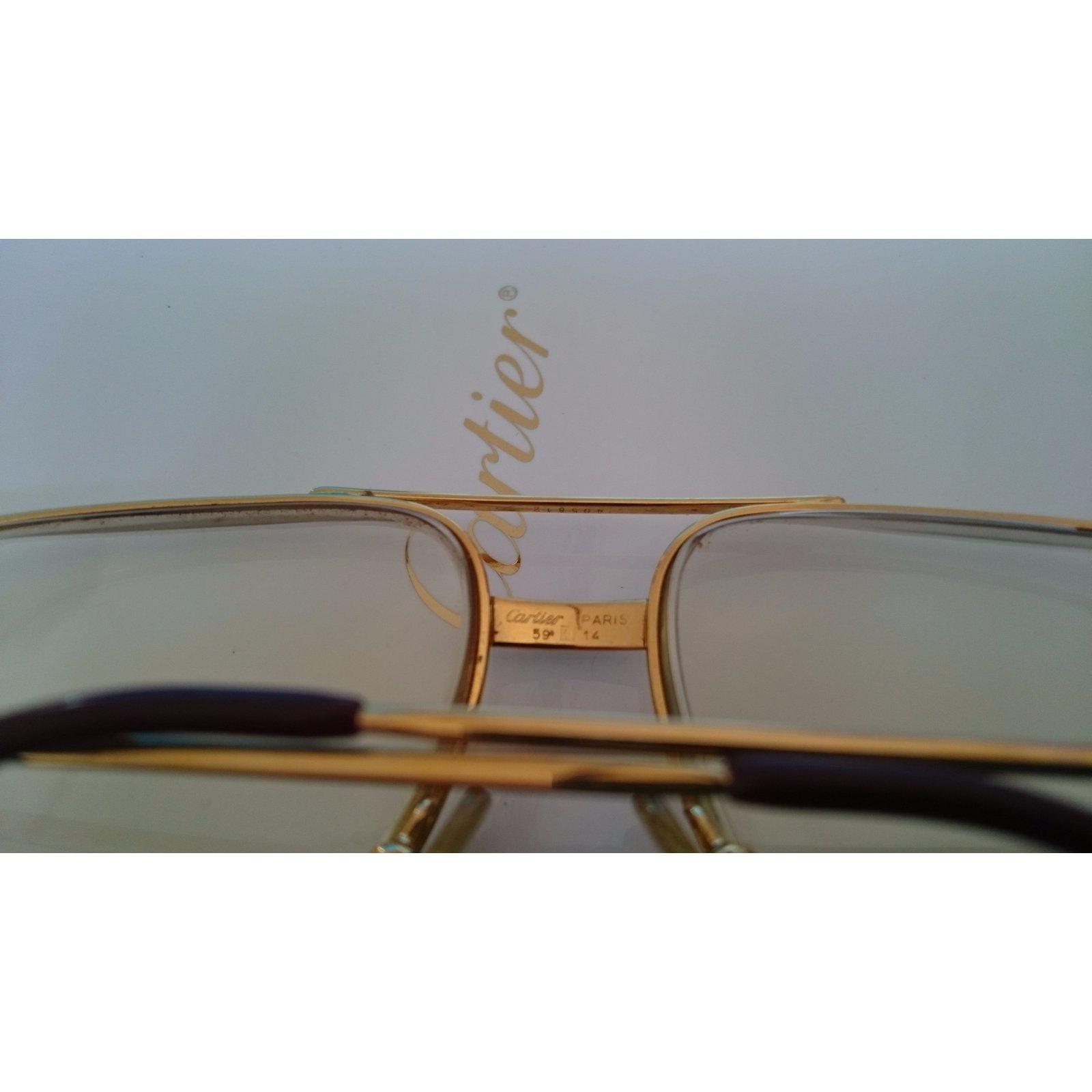 009d913063 Facebook · Pin This. Cartier Sunglasses Sunglasses Gold Golden ref.24504