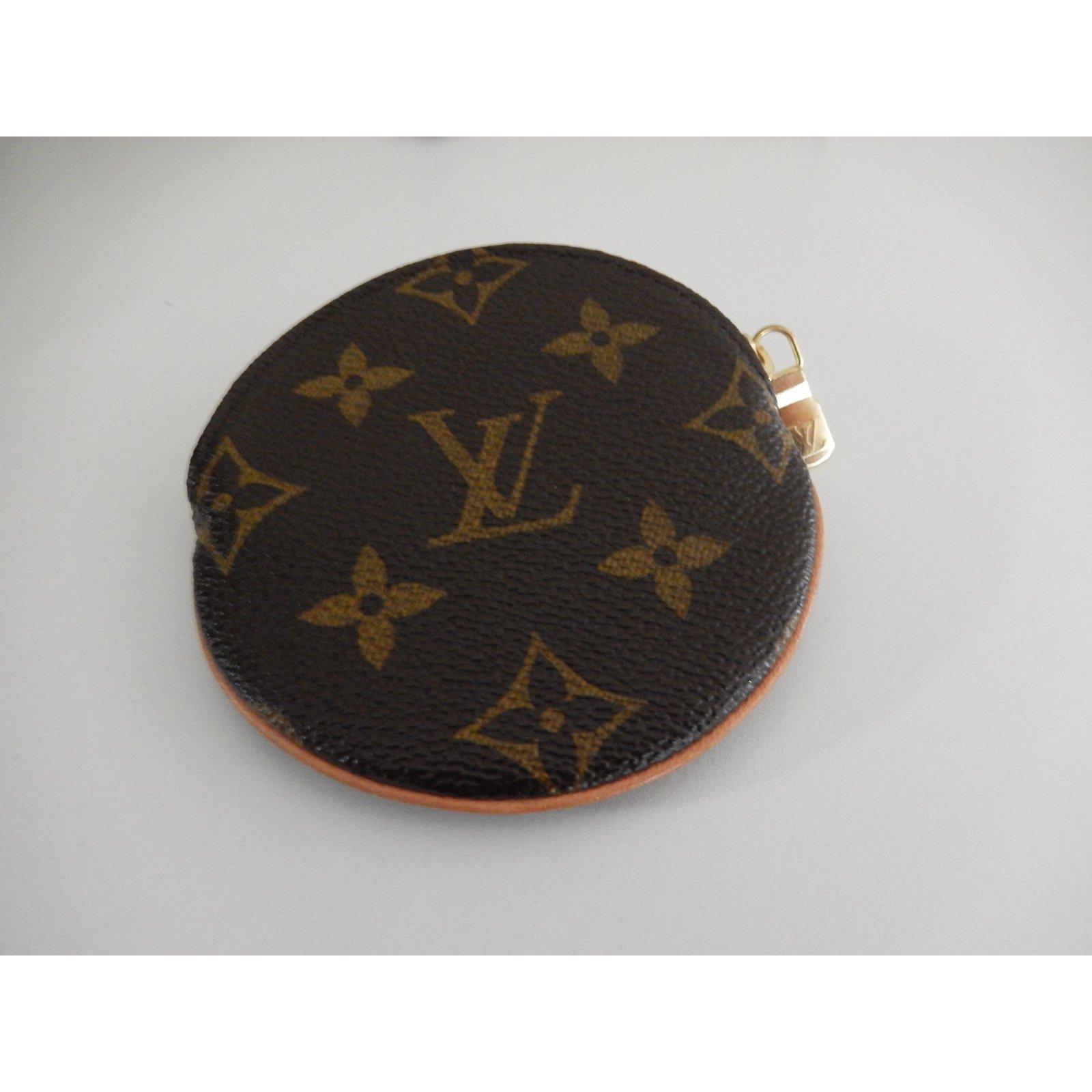 22bc9bb8279e Petite maroquinerie Louis Vuitton Porte monnaie rond Toile Marron ref.24522  - Joli Closet