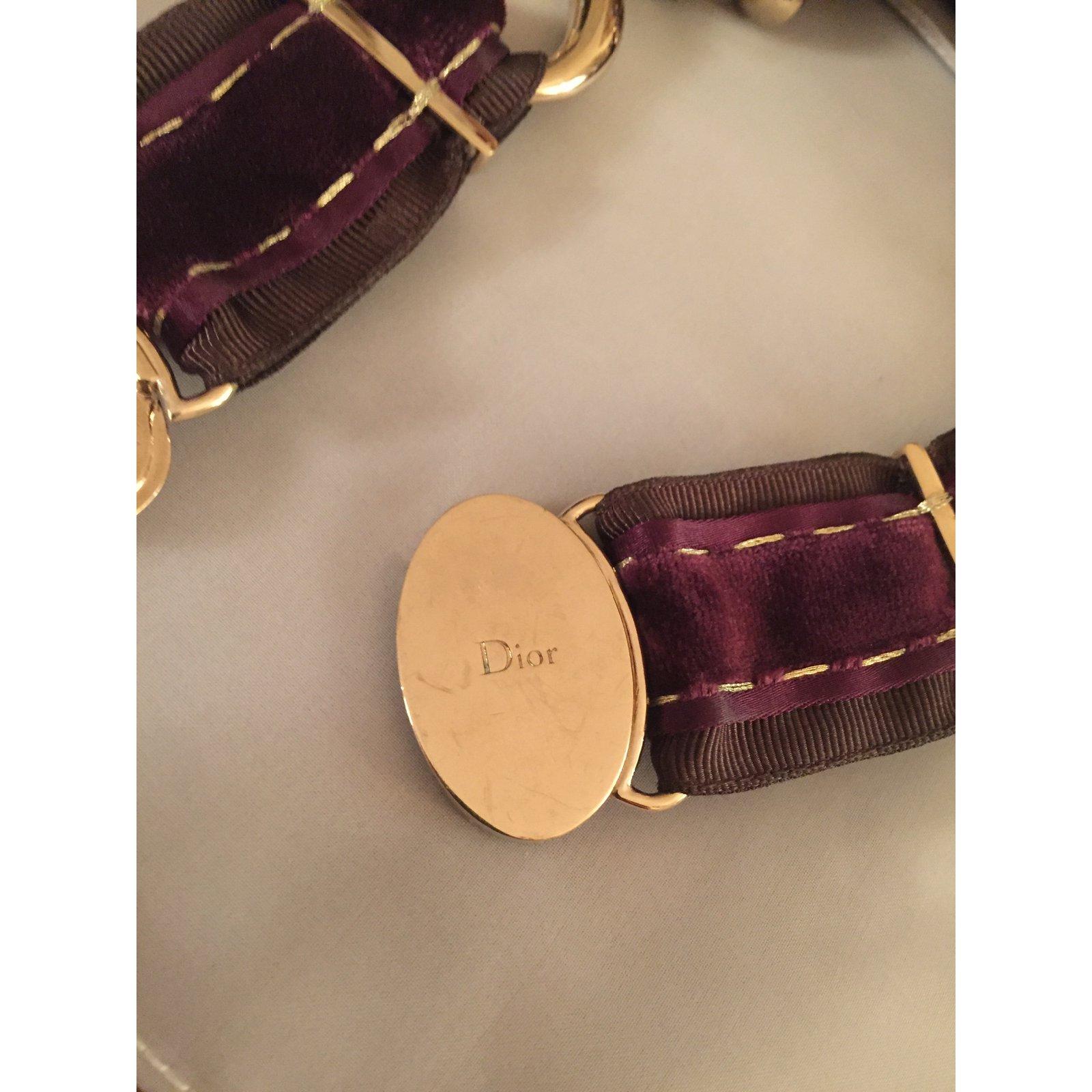 Colliers Christian Dior Mise en Dior Bois Marron ref 24800 Joli Closet # Collier En Bois Femme