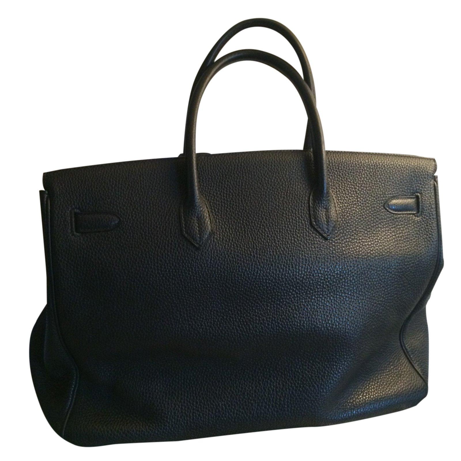 f01674bd0a Sacs à main Hermès BIRKIN 40 noir palladium Cuir Noir ref.25414 - Joli  Closet