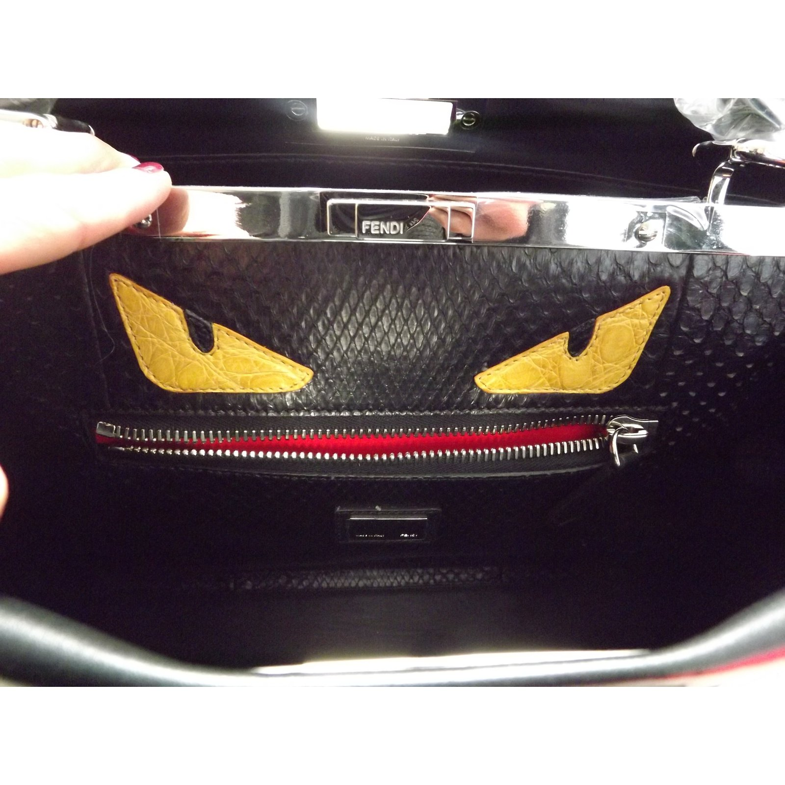 Fendi Peekaboo monster python large Handbags Leather Black ref.25603 - Joli  Closet fcc0b2f4537