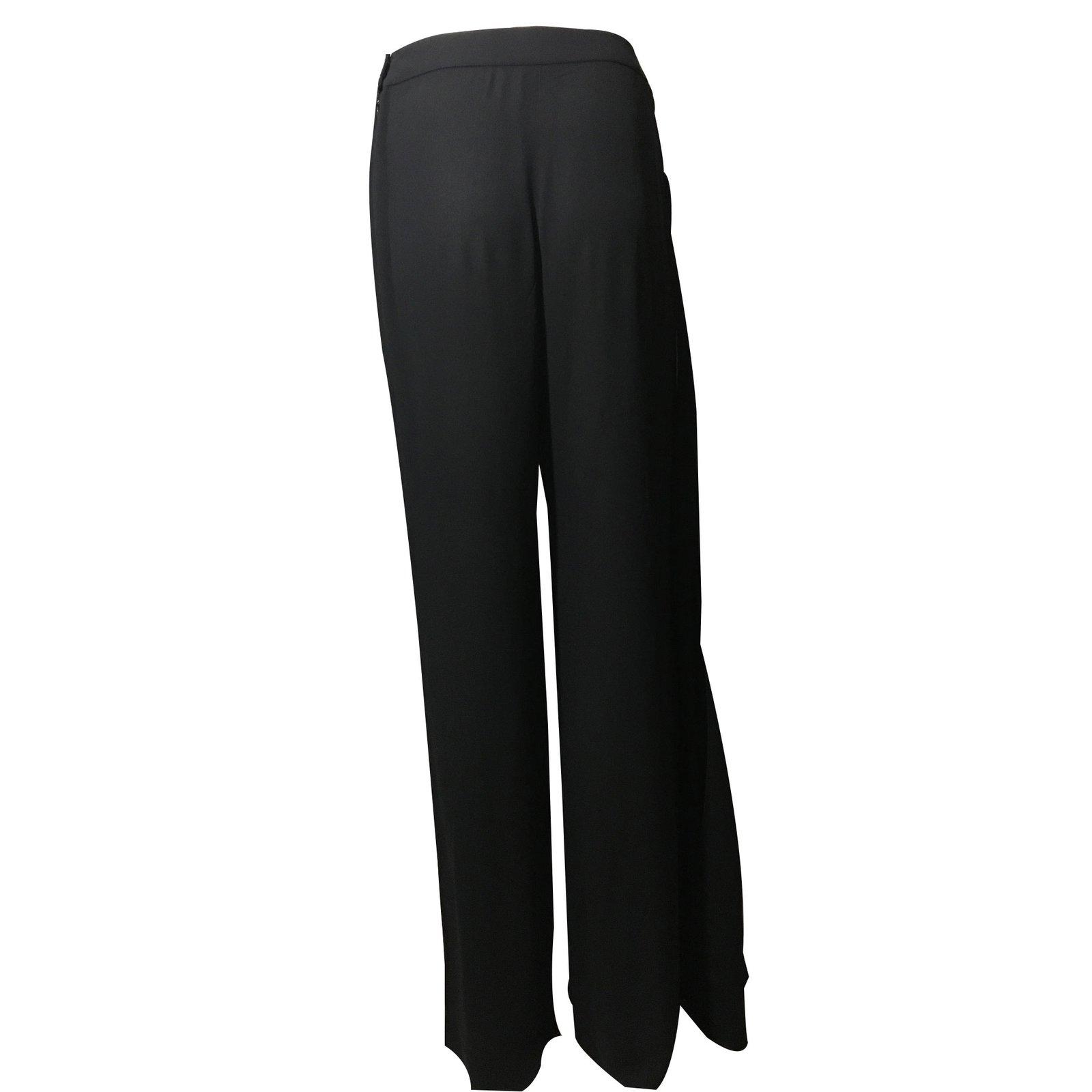 chanel yoga pants. chanel silk trousers pants, leggings black ref.25837 - joli closet yoga pants
