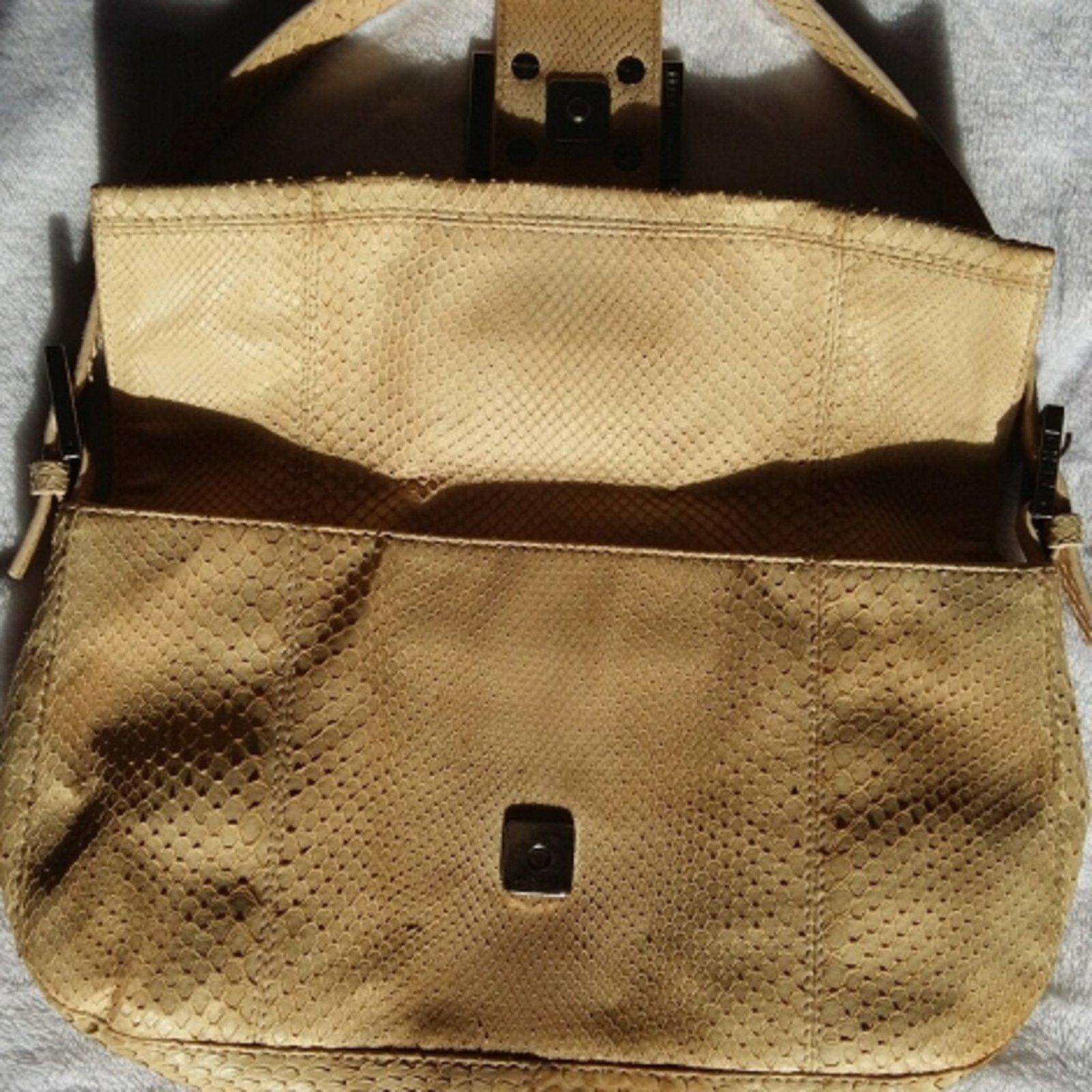 e8a51c9221ee Fendi Python Snakeskin Handbags Exotic leather Other ref.25988 - Joli Closet