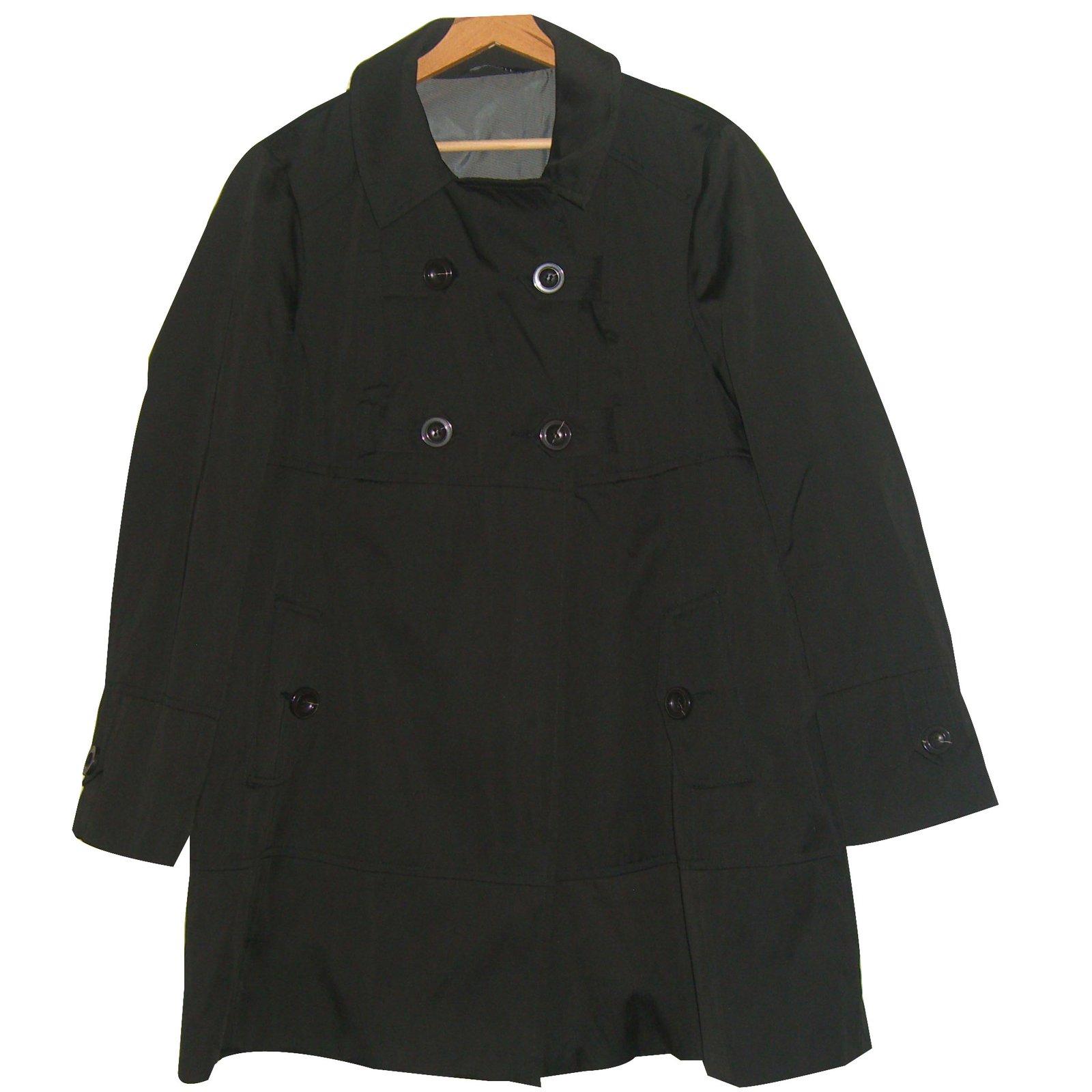 743111f6e59be Trenchs Autre Marque Trench  Caroll  Polyester Noir ref.26410 - Joli Closet
