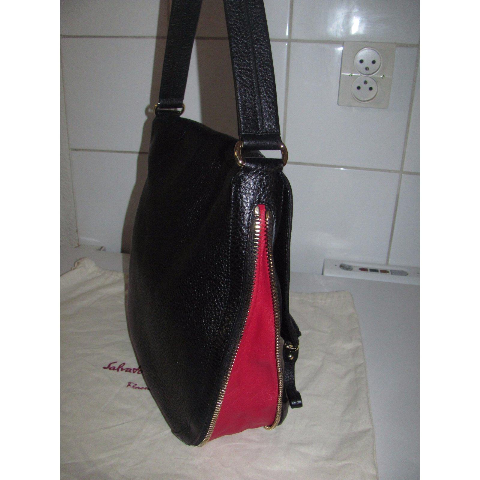 383696aed807 Sacs à main Salvatore Ferragamo Sac à main Cuir Noir ref.26653 - Joli Closet