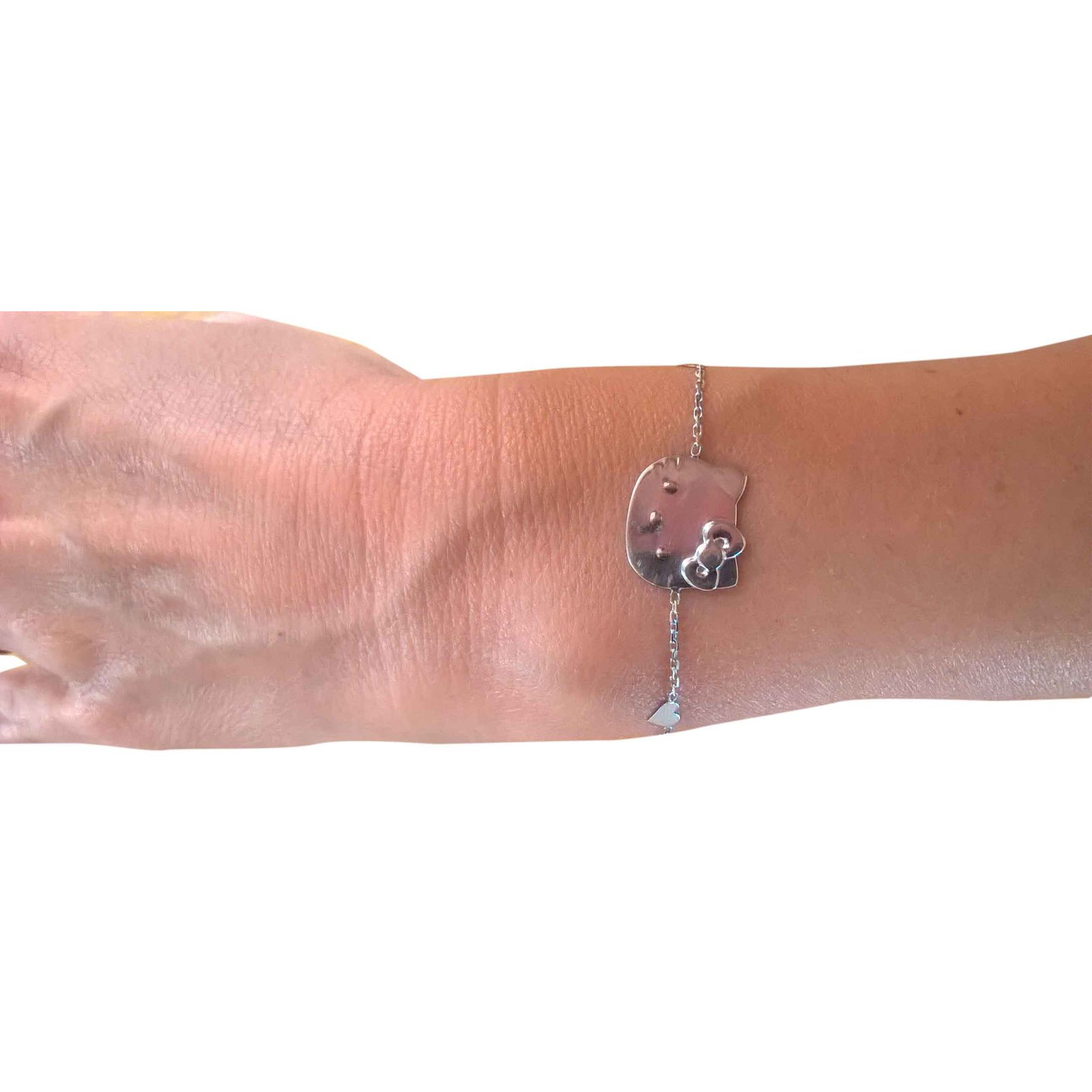 9a4d68116 Victoria Casal White gold bracelet Hello Kitty Bracelets White gold Silvery  ref.27144 - Joli Closet