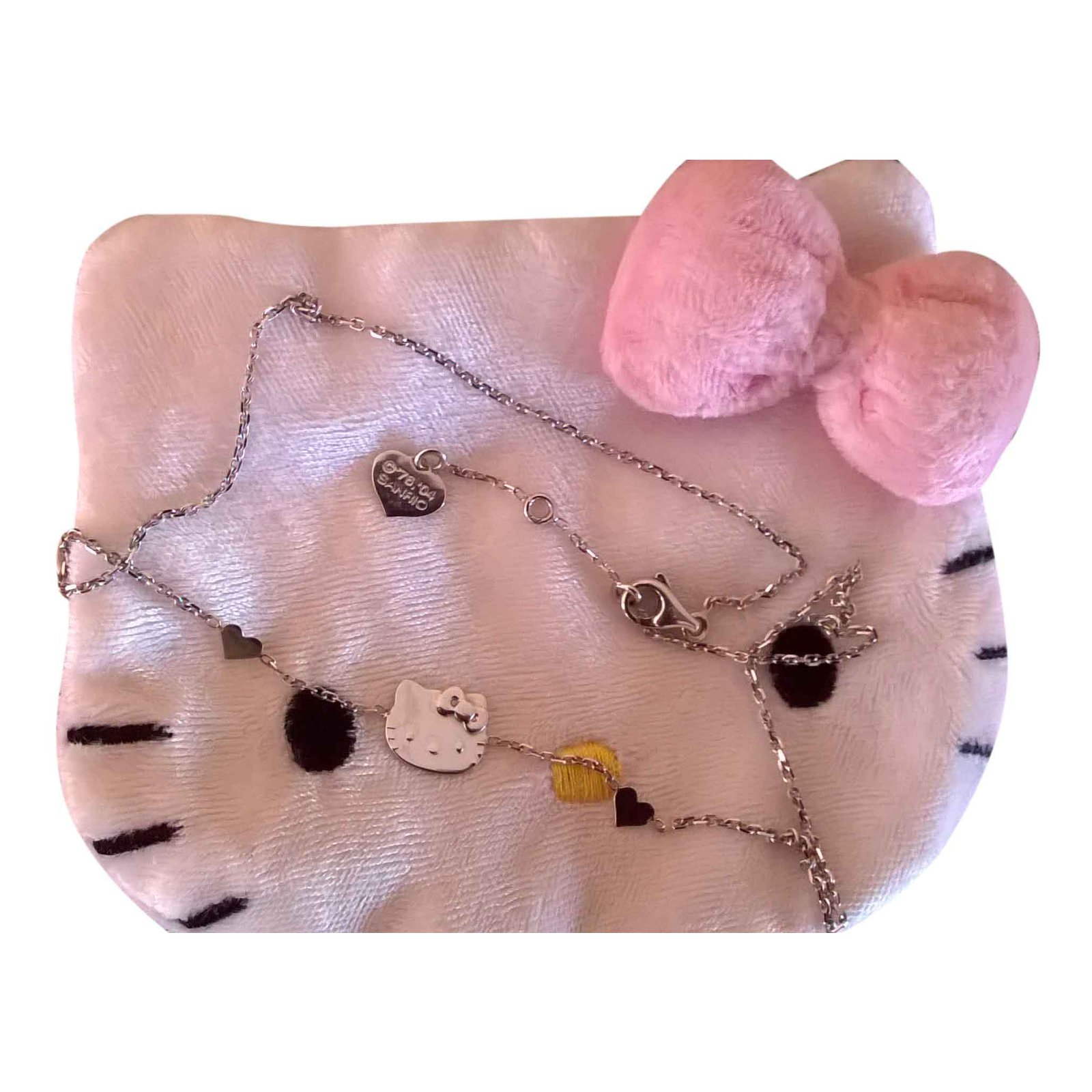 b23ebf817 Victoria Casal Hello Kitty necklace Necklaces White gold Silvery ref.27145  - Joli Closet