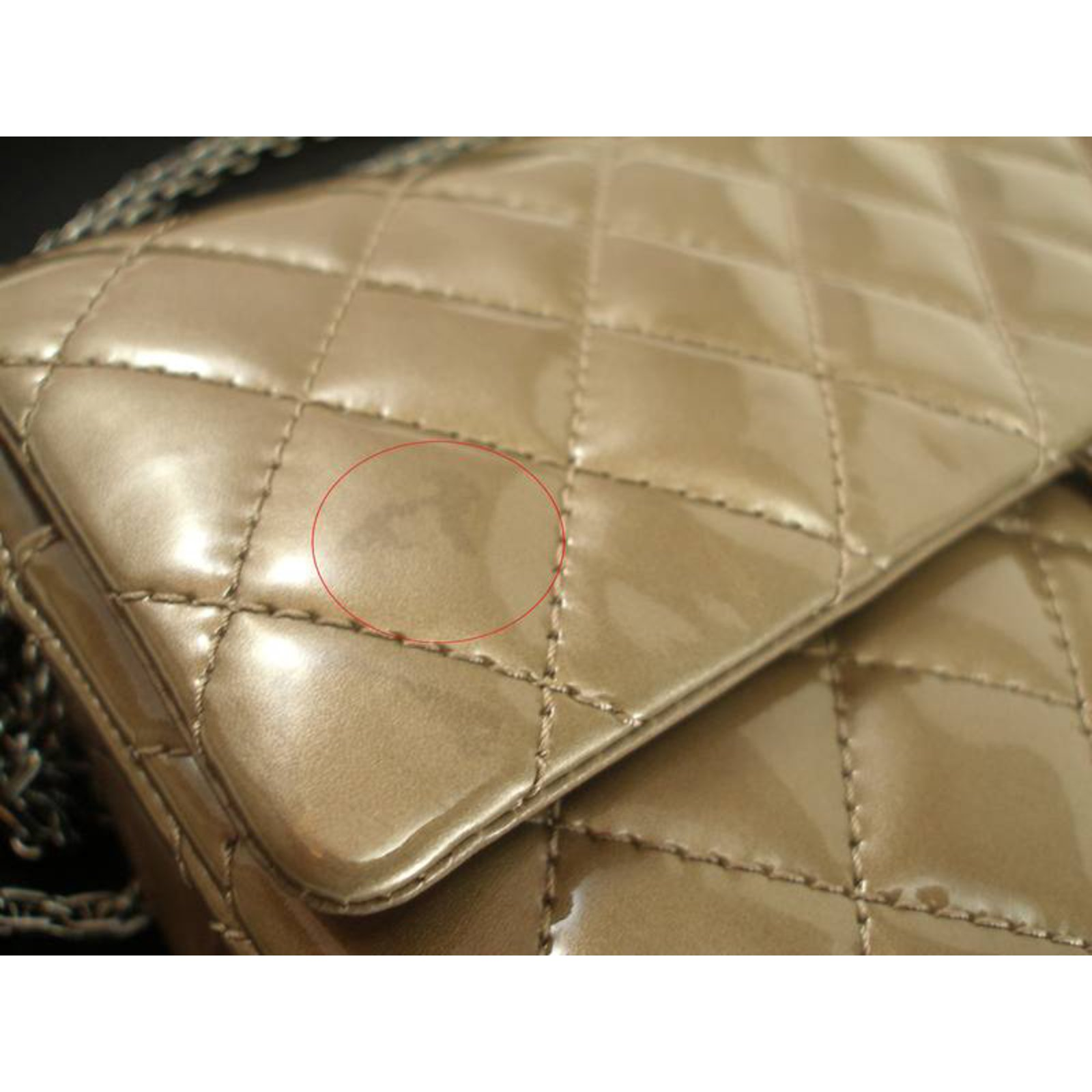 2925619ee52c Facebook · Pin This. Chanel Reissue 227 Handbags Patent leather Taupe ...