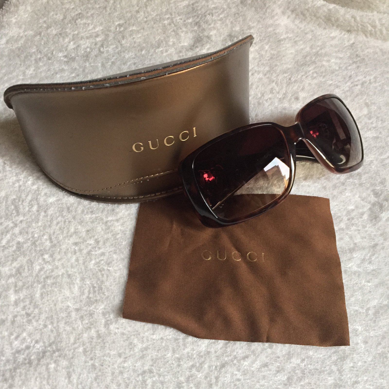 76b19ea2fa4 Gucci Brown heart sunglasses Sunglasses Plastic Brown ref.27646 - Joli  Closet