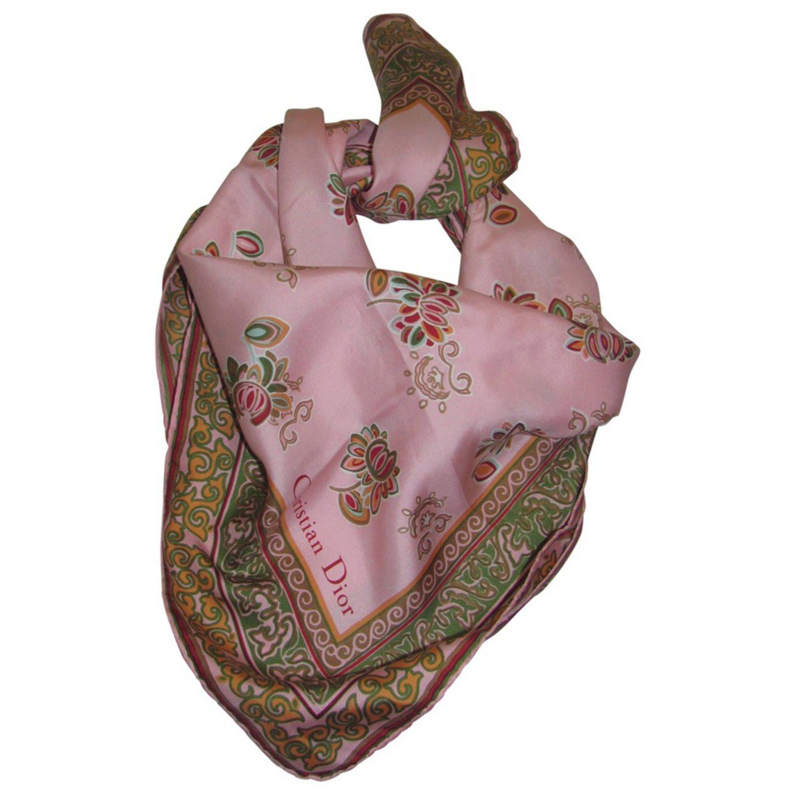 edbdd525c148 Foulards Dior Foulard Soie Rose ref.27704 - Joli Closet