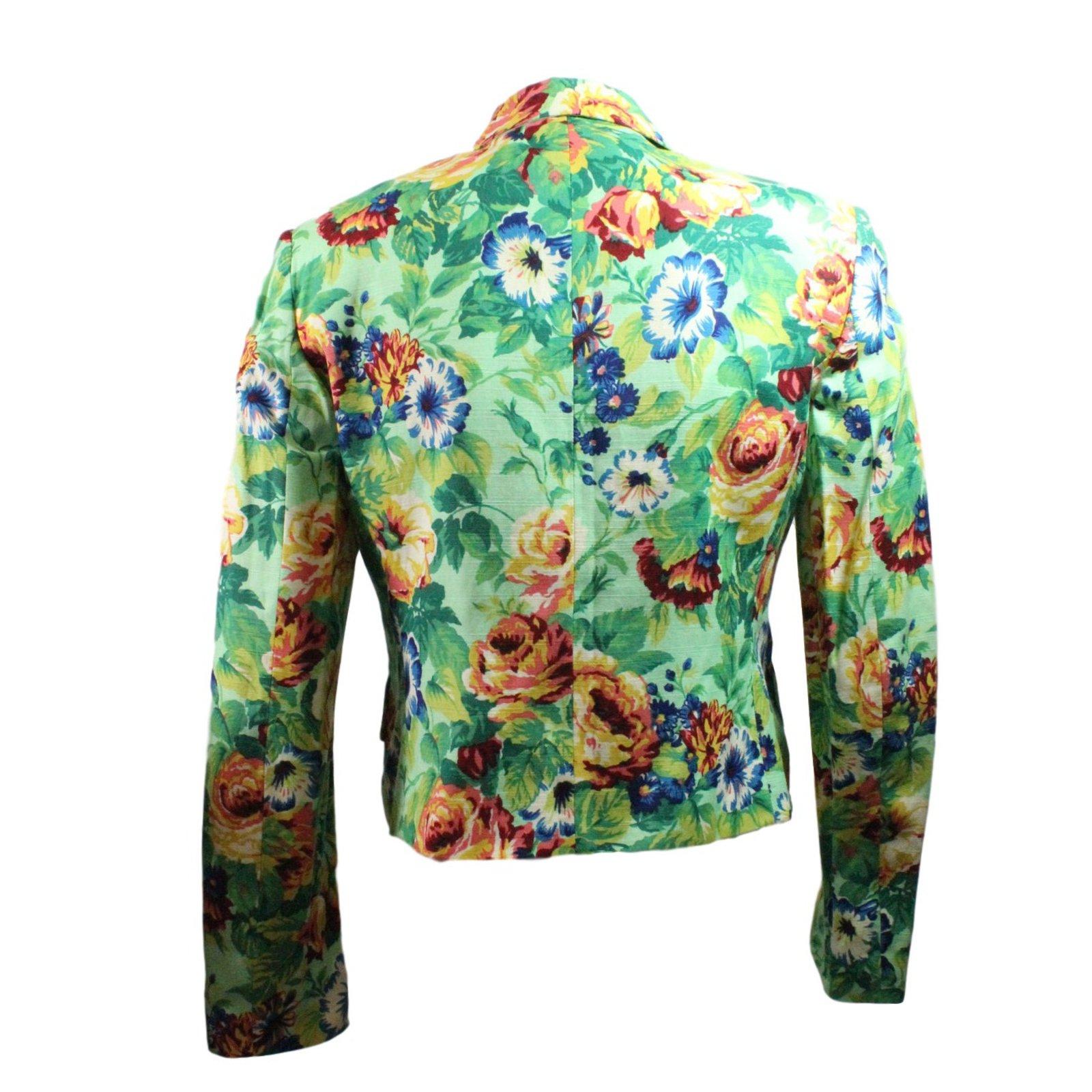 vestes kenzo veste floral viscose lin multicolore joli closet. Black Bedroom Furniture Sets. Home Design Ideas