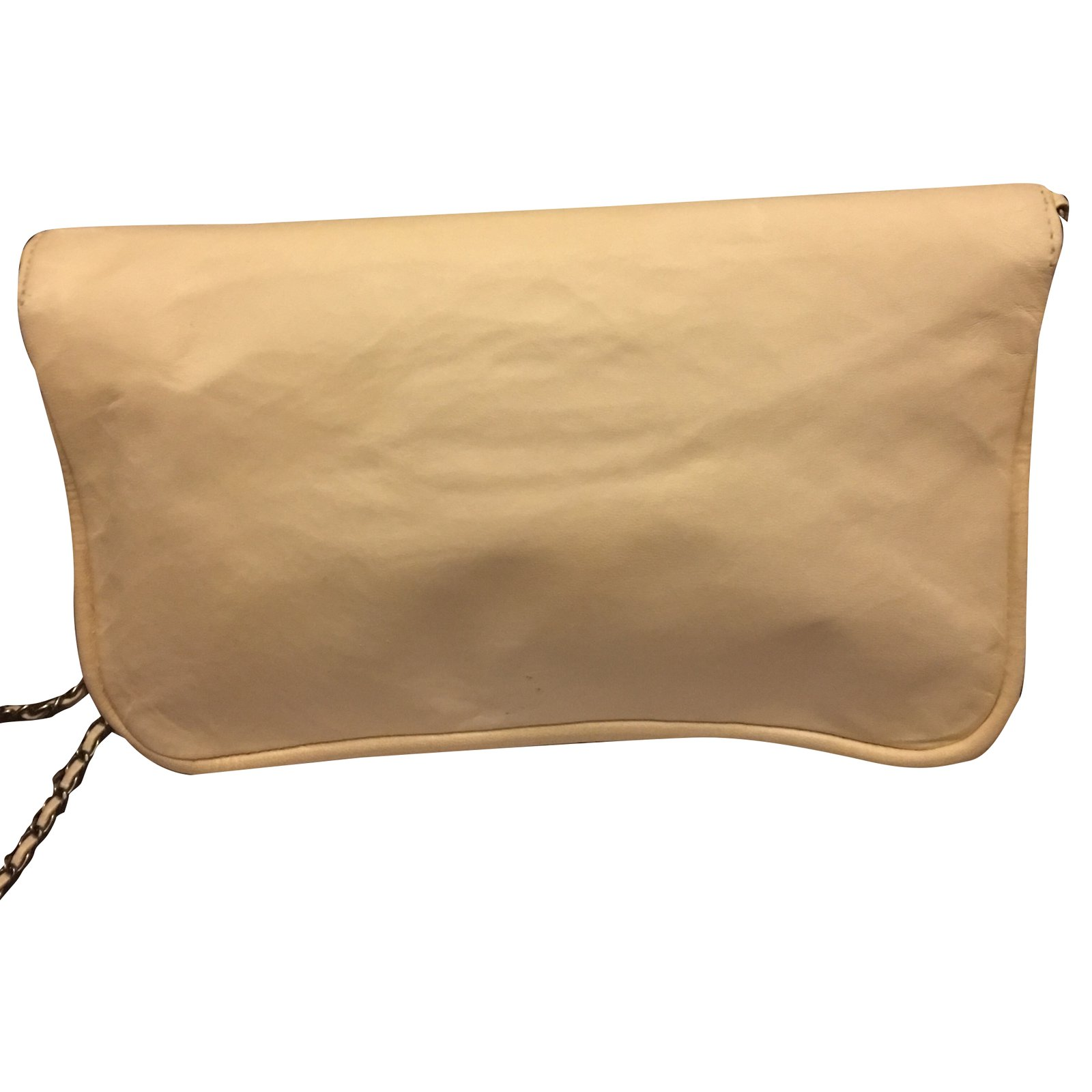 fd727587752b Chanel Reissue Wallet on Chain Handbags Leather Cream ref.29053 - Joli  Closet