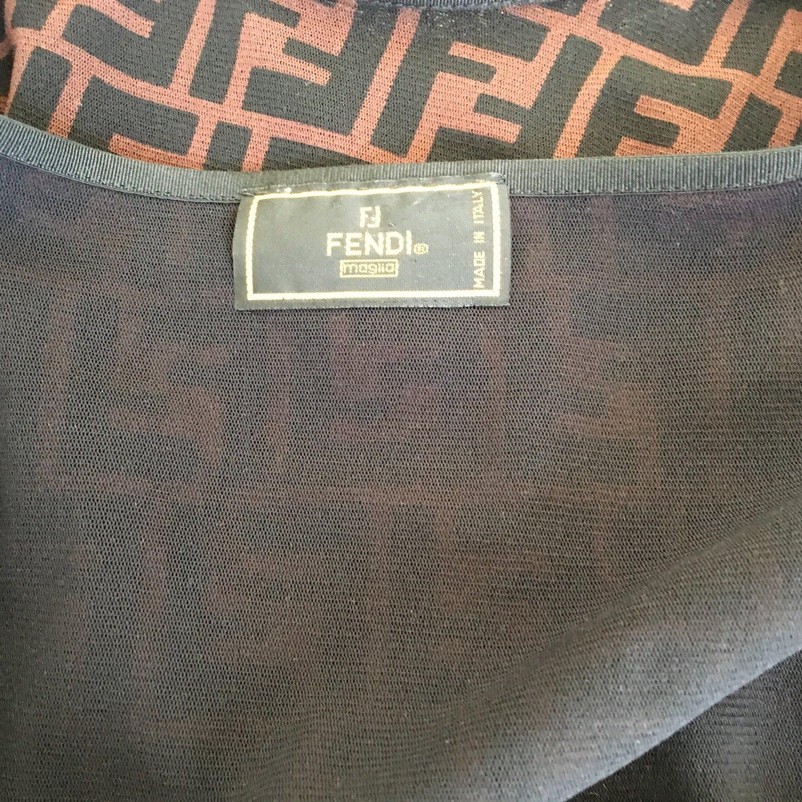 Fendi Closet Joli Ref 29260 Polyamide Marron Tops Monogramme wkTlXOZiuP