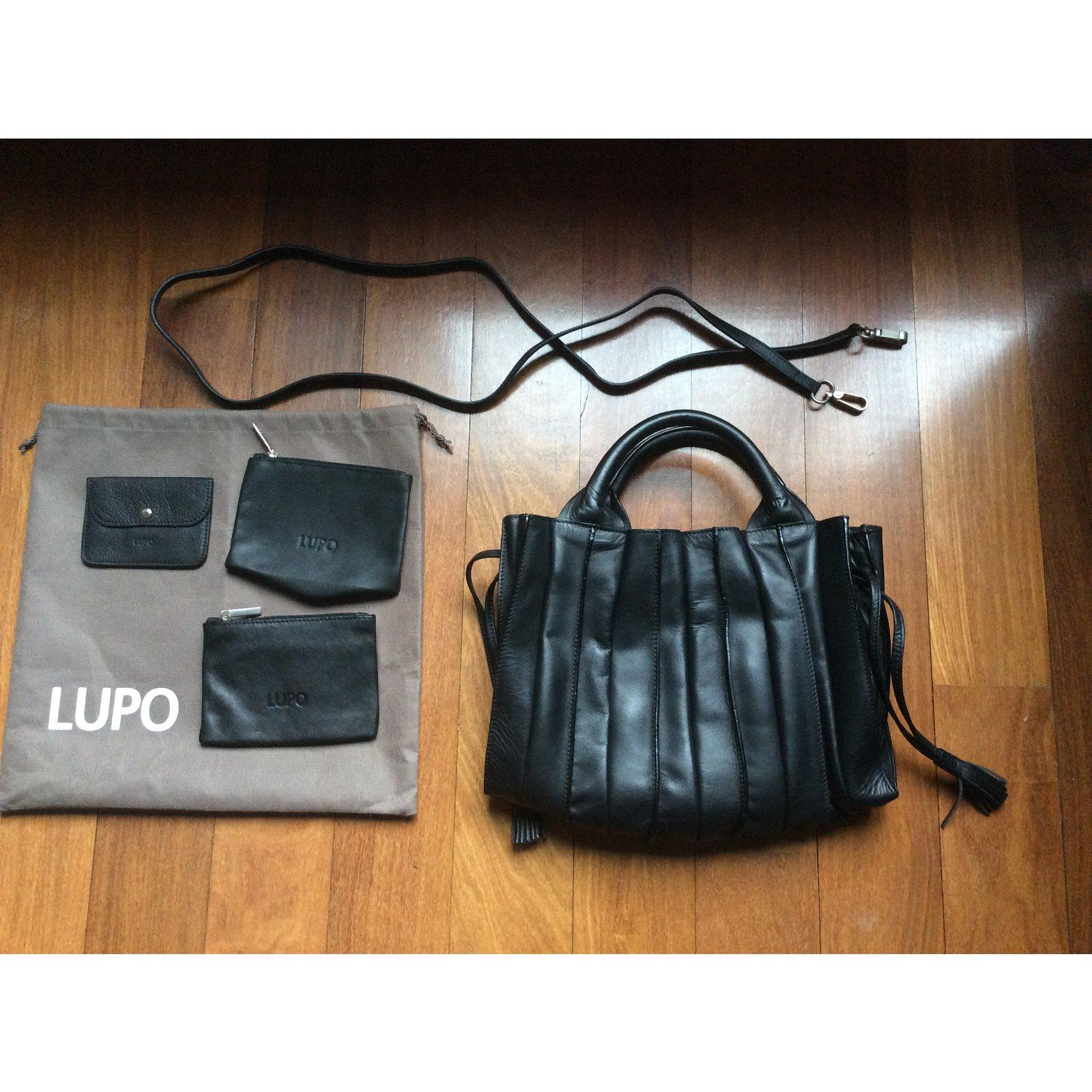 824b81daf5 Sacs à main Autre Marque Lupo Abanico petit modèle Cuir Noir ref.29358 -  Joli Closet