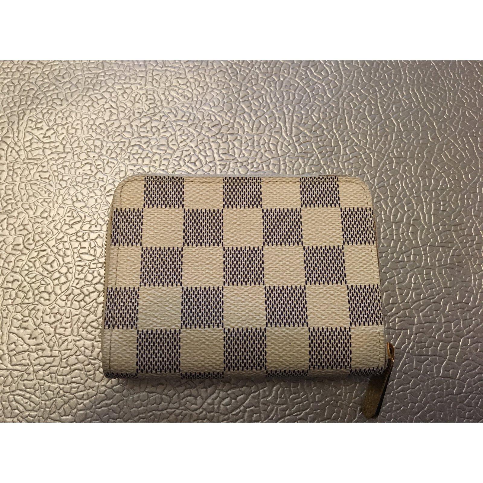 69b73533a97 Petite maroquinerie Louis Vuitton Porte-Monnaie Zippy Louis Vuitton  Synthétique Blanc ref.29828 - Joli Closet
