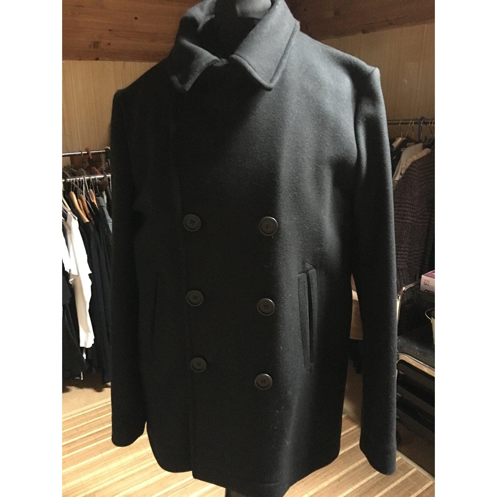 4831ec43dca1 Lacoste Coat Men Coats Outerwear Wool Black ref.31069 - Joli Closet