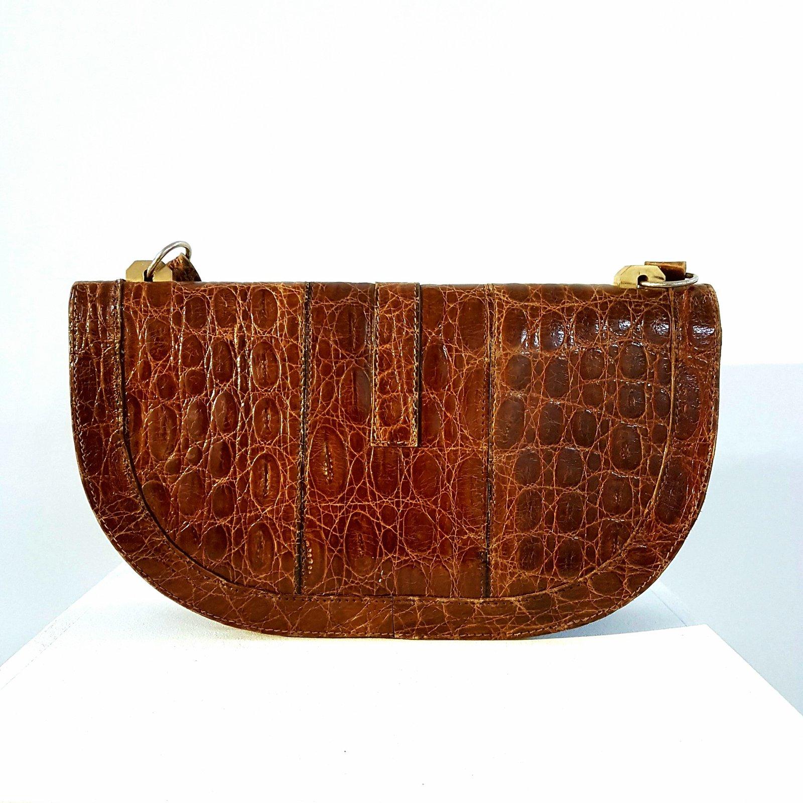 sacs main lancel sac main vintage croco cuirs. Black Bedroom Furniture Sets. Home Design Ideas