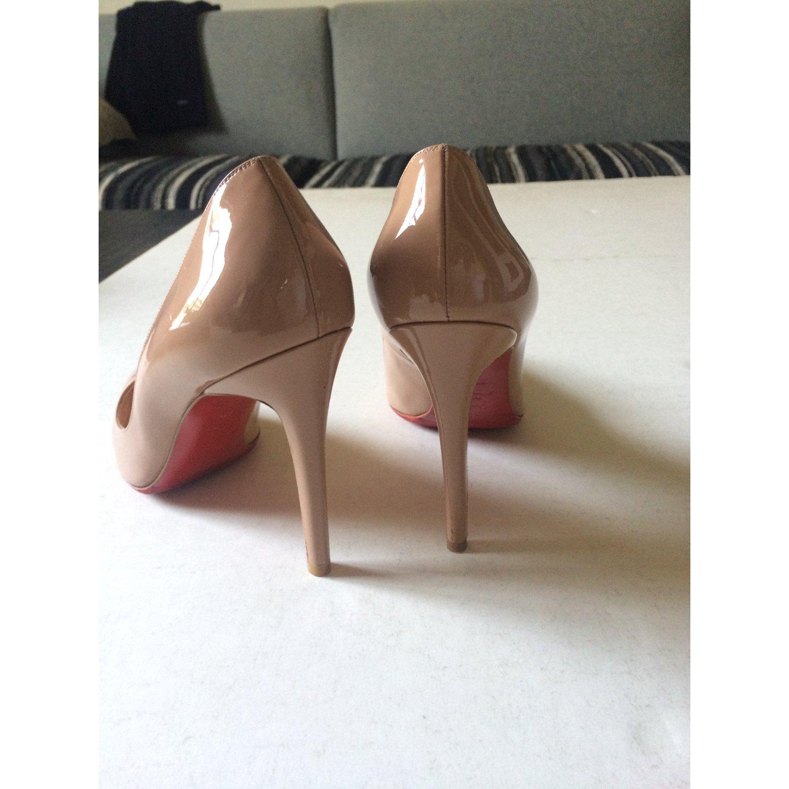 acheter en ligne 57881 18d74 Pigalle 10 cm Nude Vernis