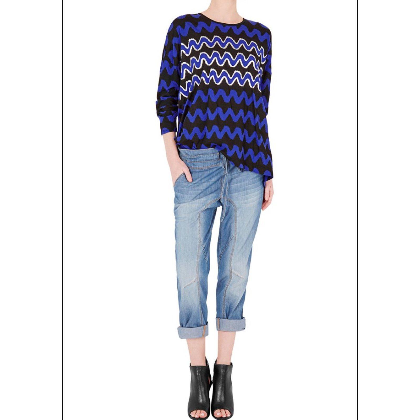 Sassamp; Coton Multicolore Tops Ref Bide Oversize 31471 Closet Top Joli AjL3RS54cq