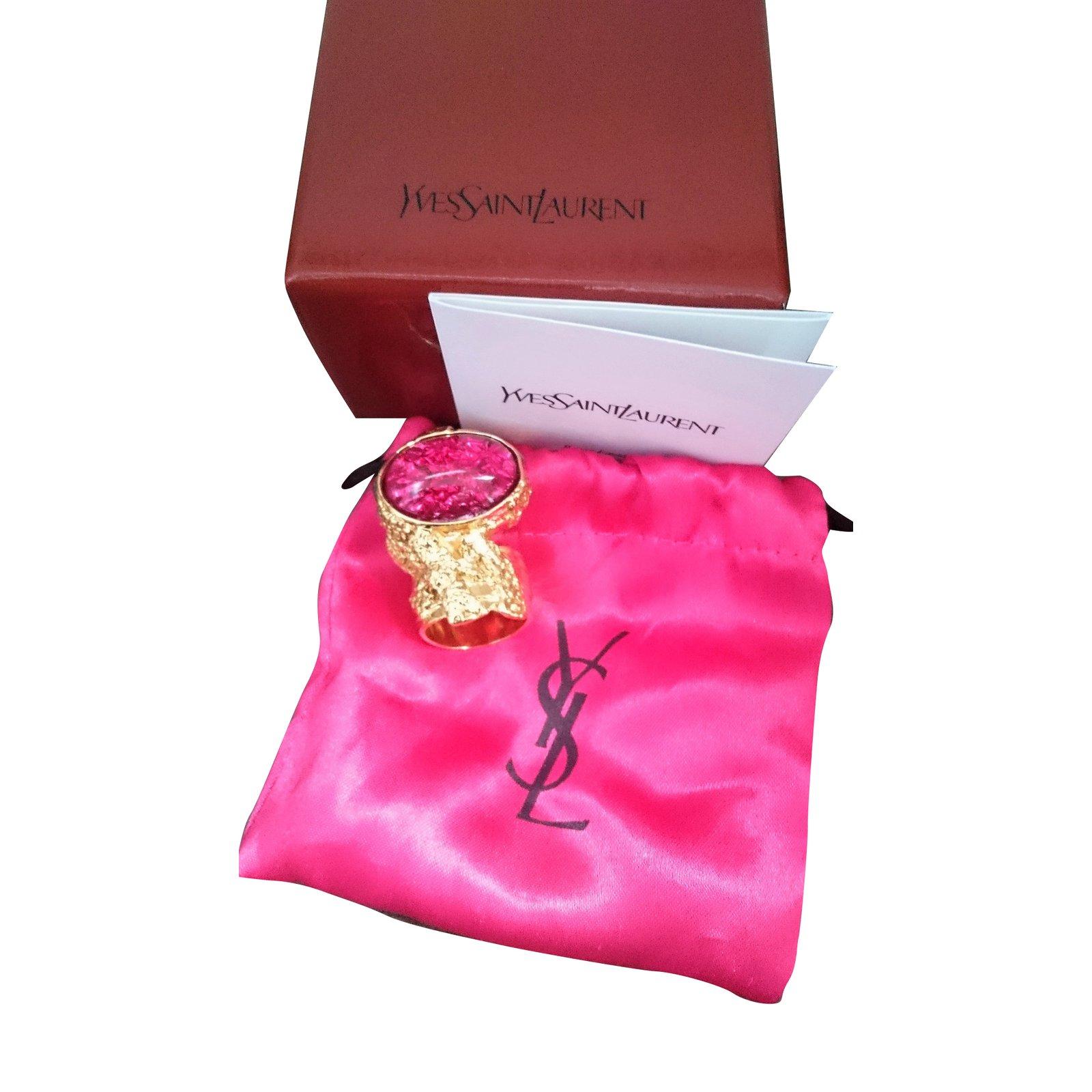 252bce63849 Yves Saint Laurent Arty Ring Love Rings Gold-plated Pink ref.32462 - Joli  Closet