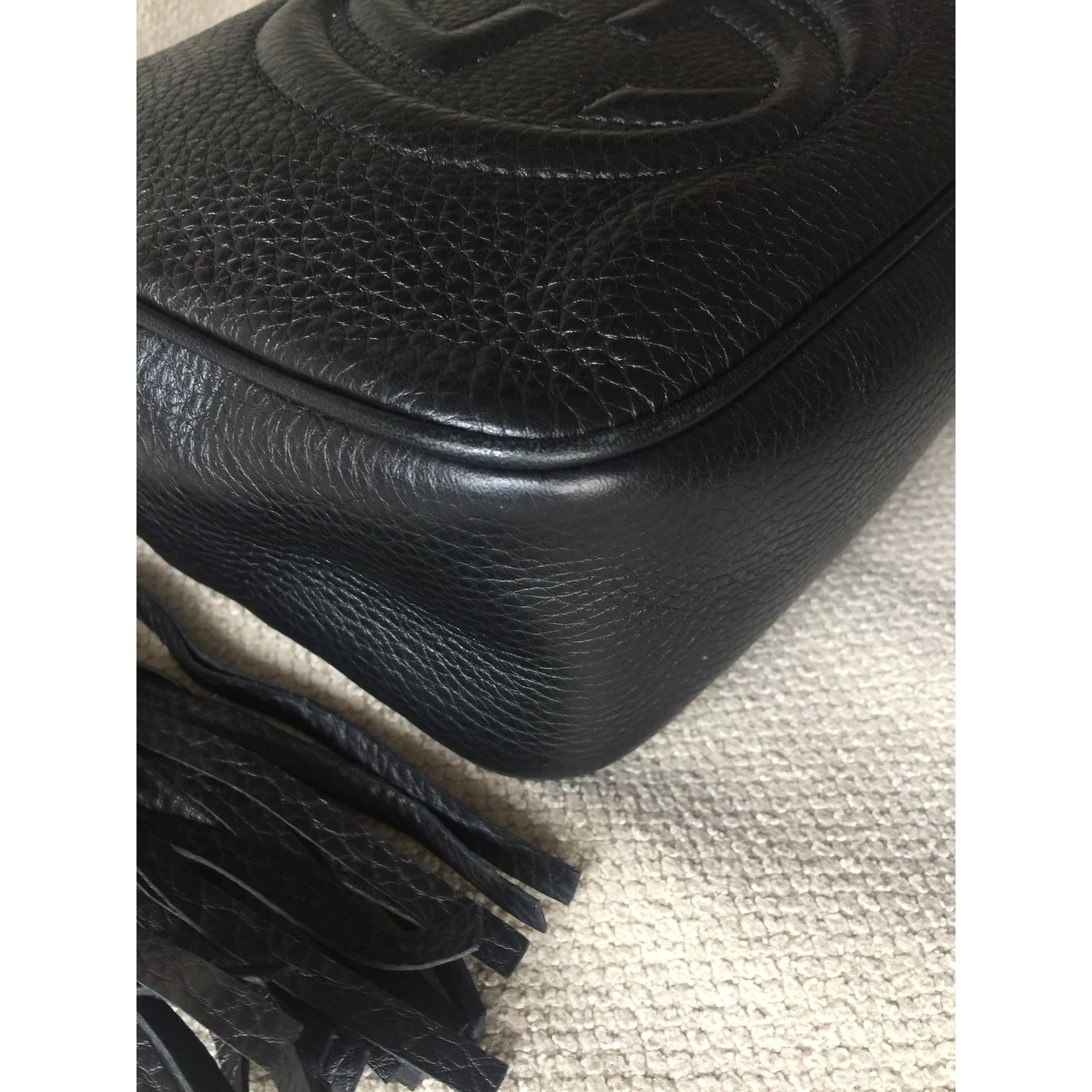 9a376ab341e9 Gucci GUCCI BLACK SOHO DISCO Handbags Leather Black ref.32844 - Joli Closet
